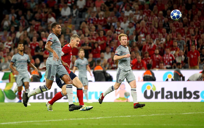 Bastian Schweinsteiger scored for Bayern Munich in the clash with Chicago Fire