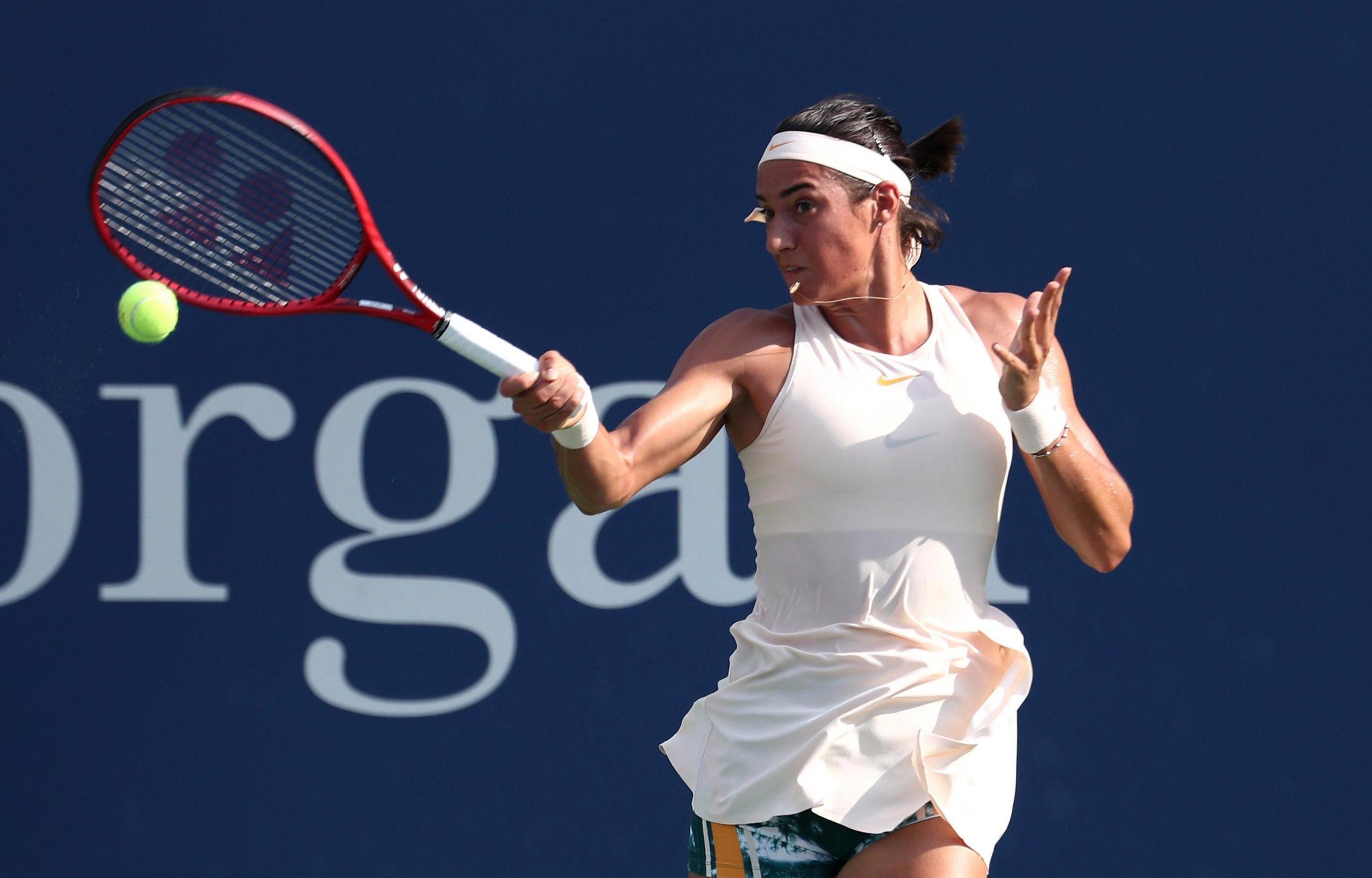 Caroline Garcia was in dominant form as she dismissed Jo Konta