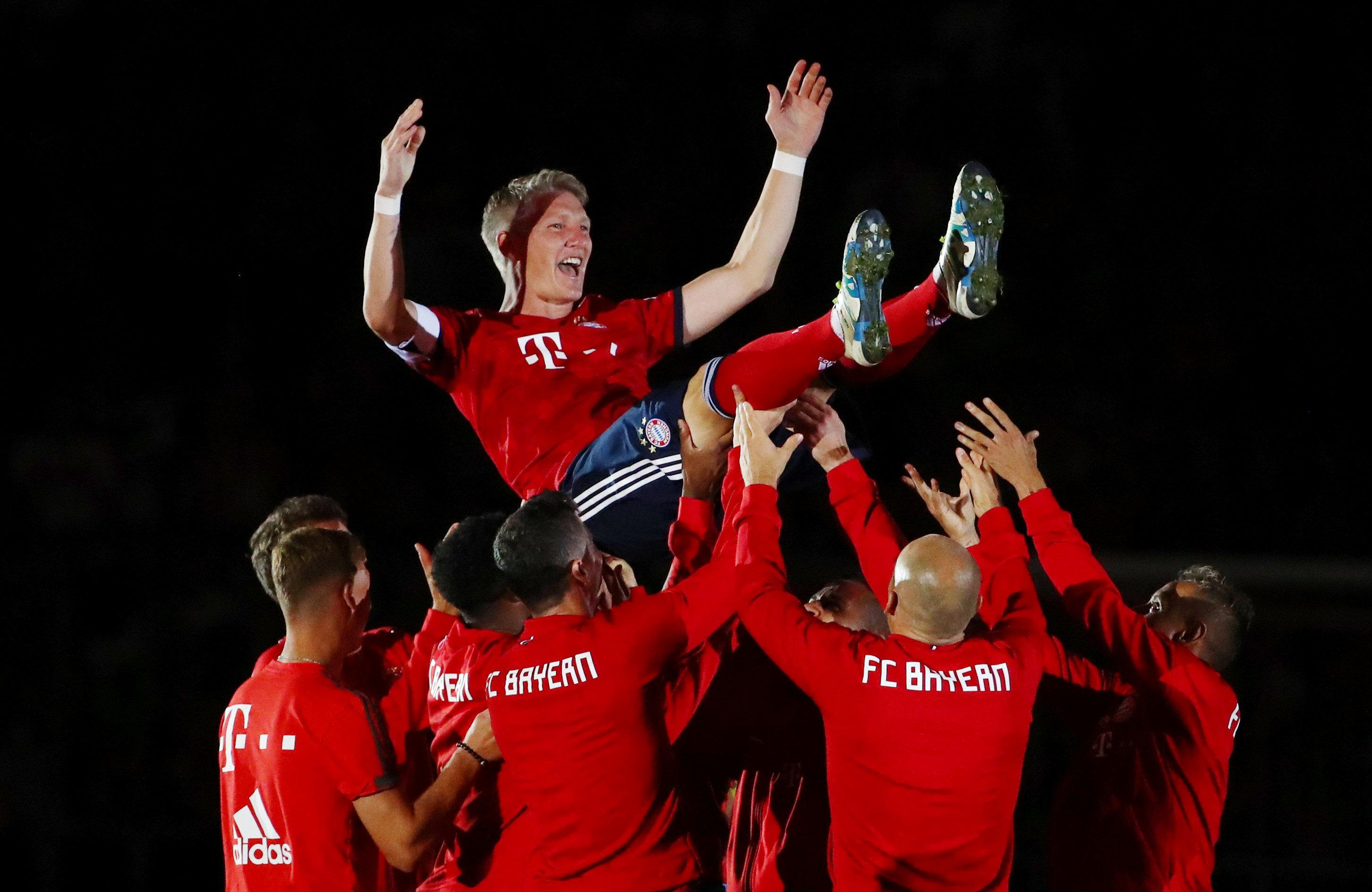 Bastian Schweinsteiger celebrated his glittering career with a testimonial on Tuesday