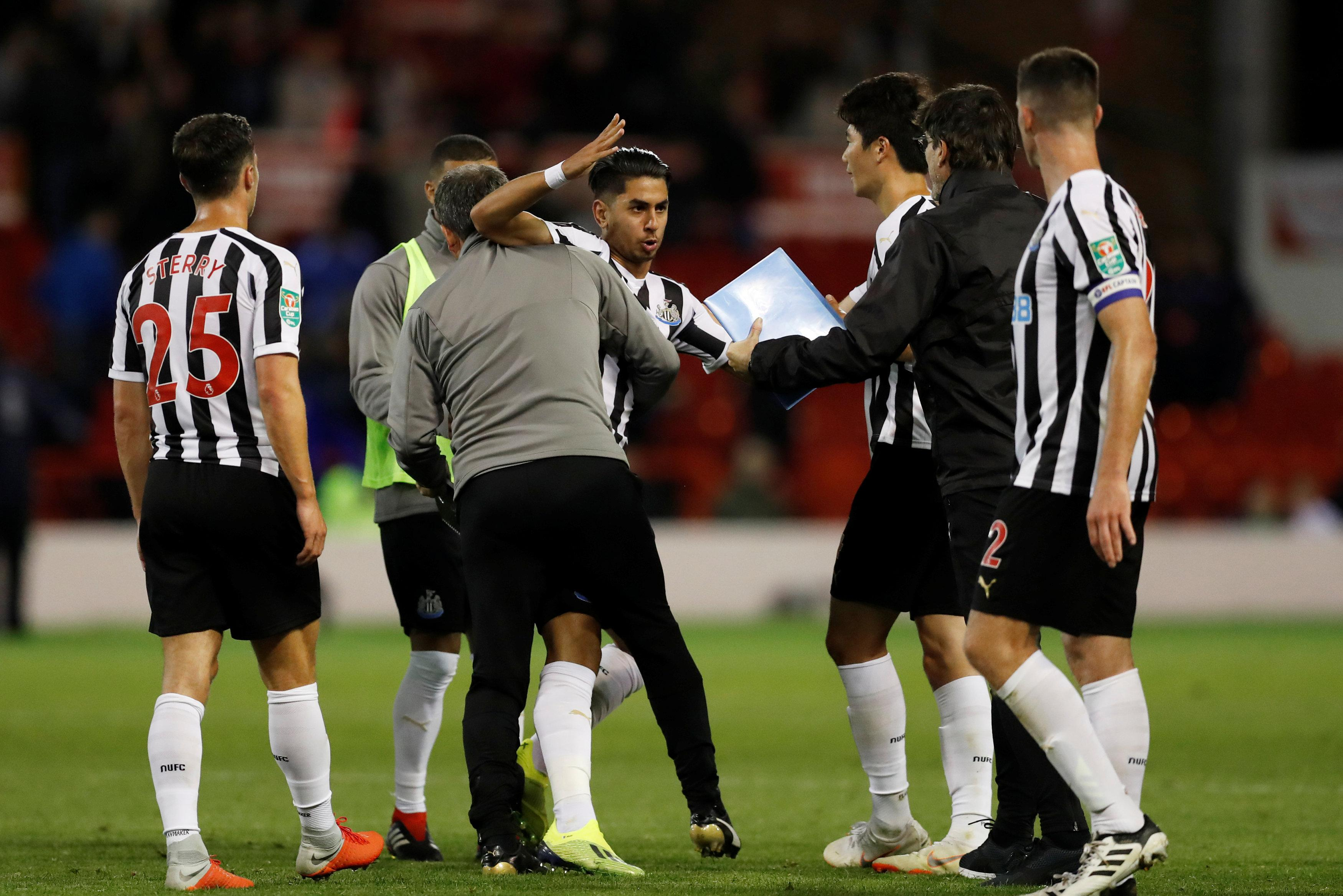 Ayoze Perez was raging at full-time after he was denied a penalty minutes earlier