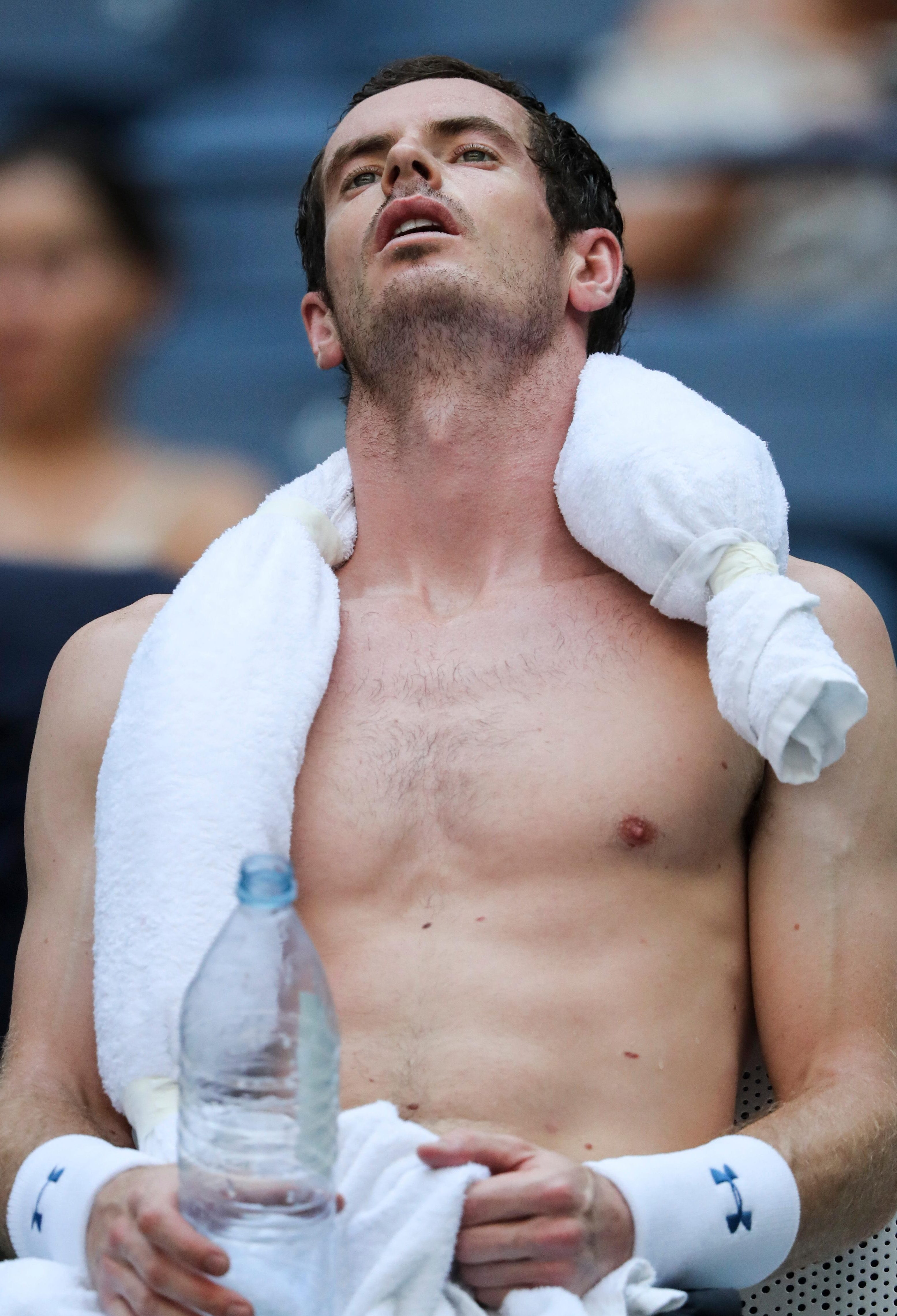 The Brit couldn't handle the heat on his return to grand slam tennis in scorching temperatures