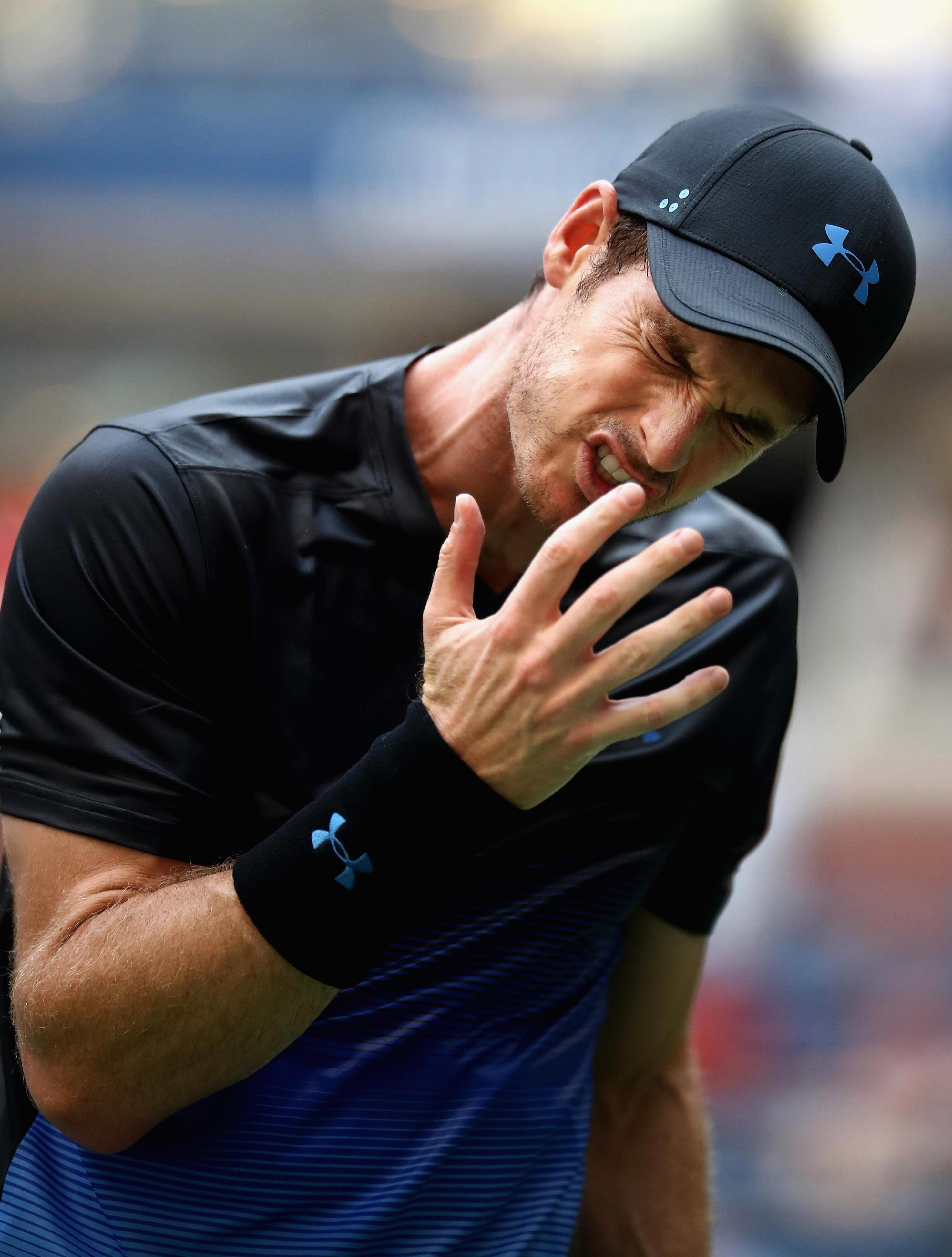 Andy Murray was sent crashing out of the US Open on Wednesday