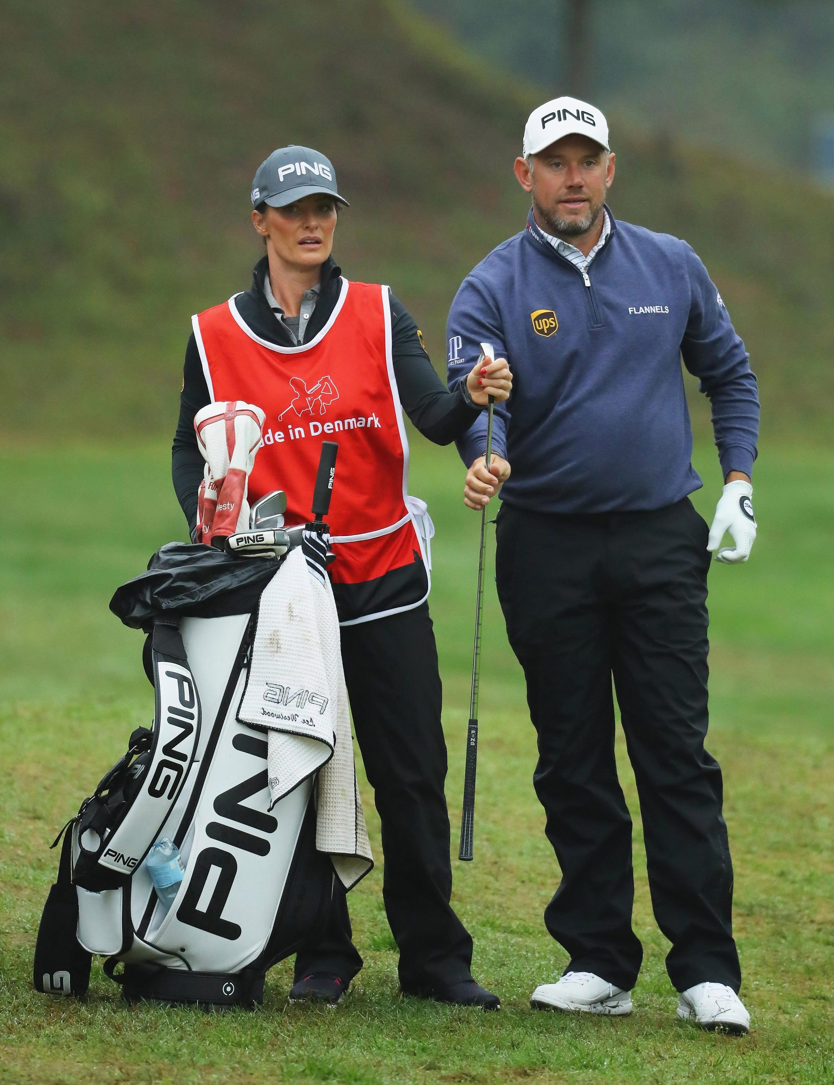Lee Westwood has girlfriend Helen Storey on the bag this week