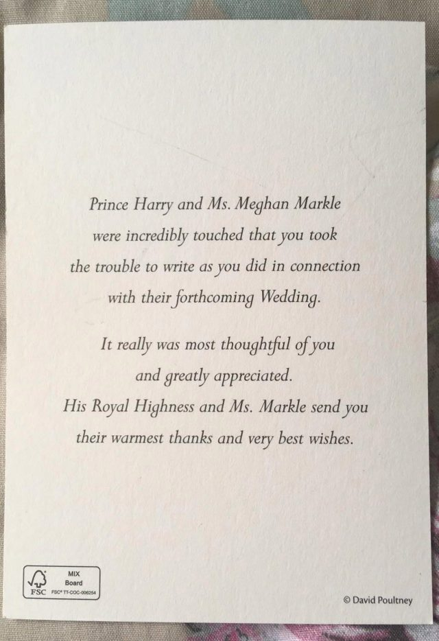 These are all the letters the Royal family have sent to thank
