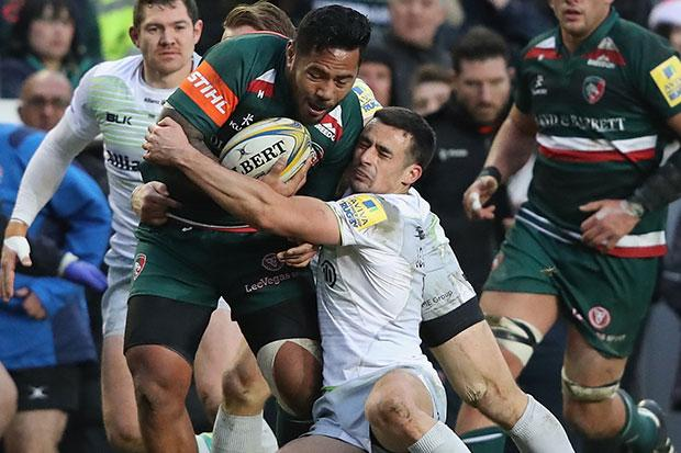 Manu Tuilagi has played most games recently with the help of heavy strapping