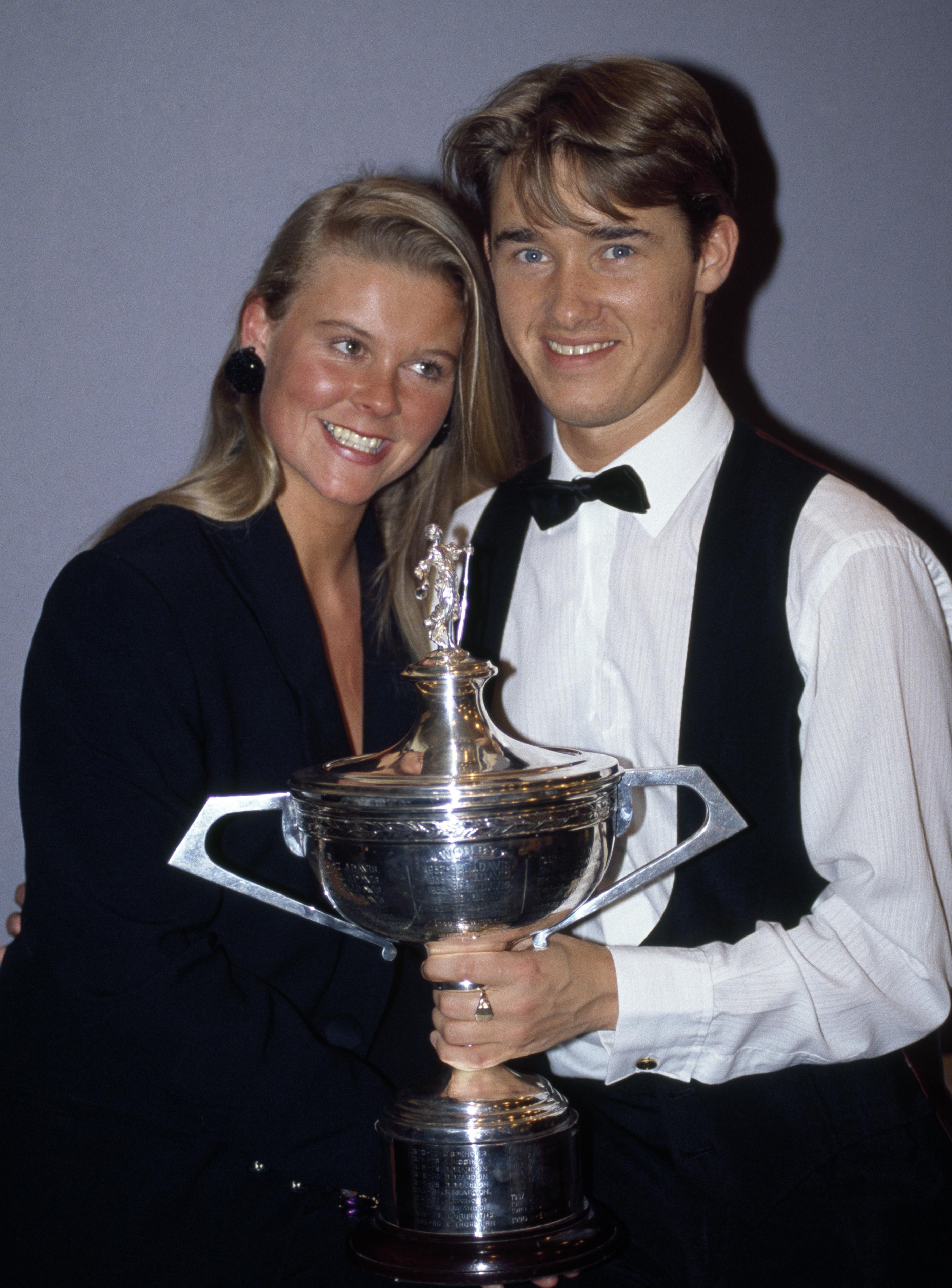 Hendry dominated snooker during the 1990s with then wife Many at his side