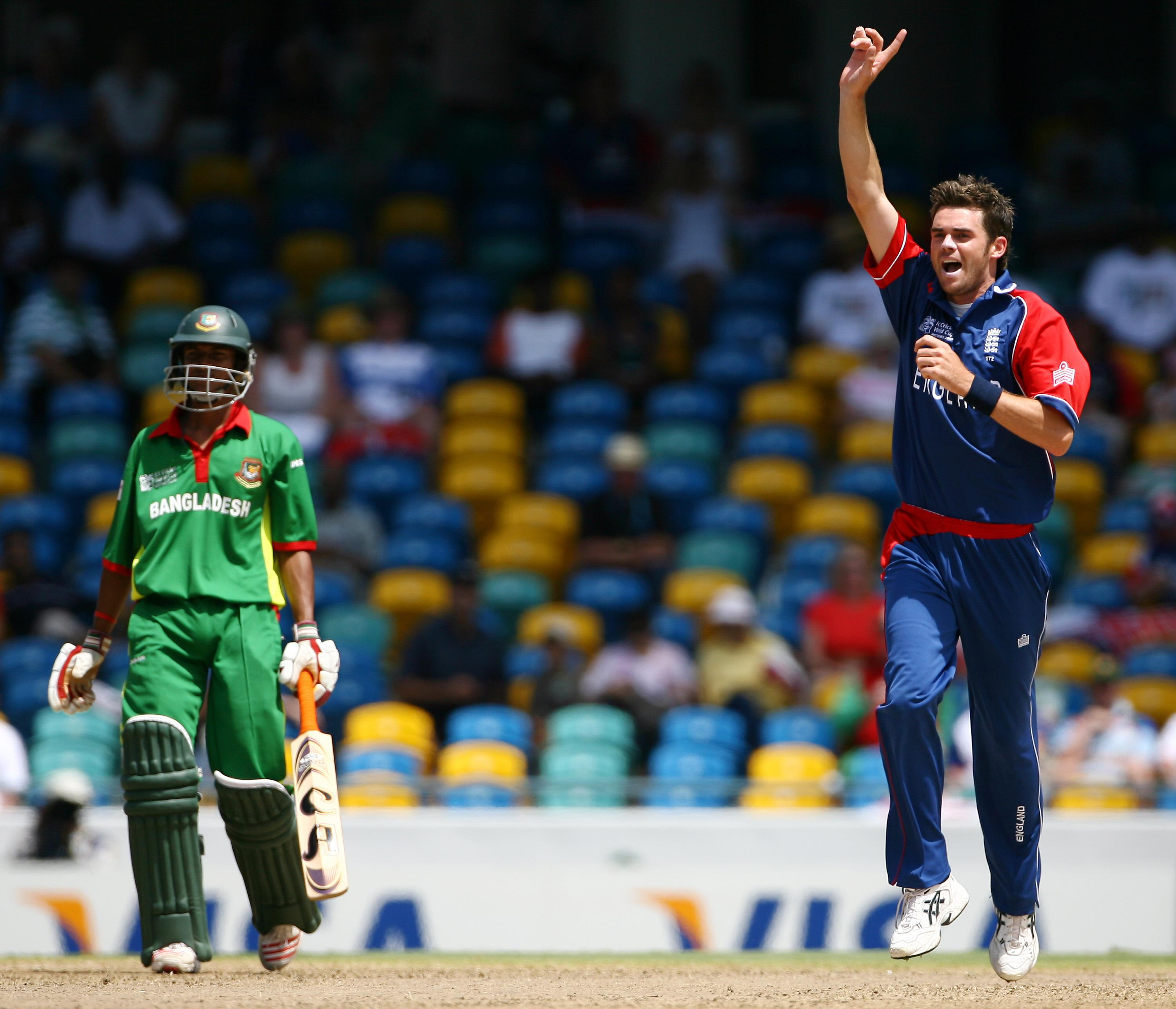 Mohammad Ashraful playing against England in the 2007 World Cup - and he hopes to play in the tournament again next year