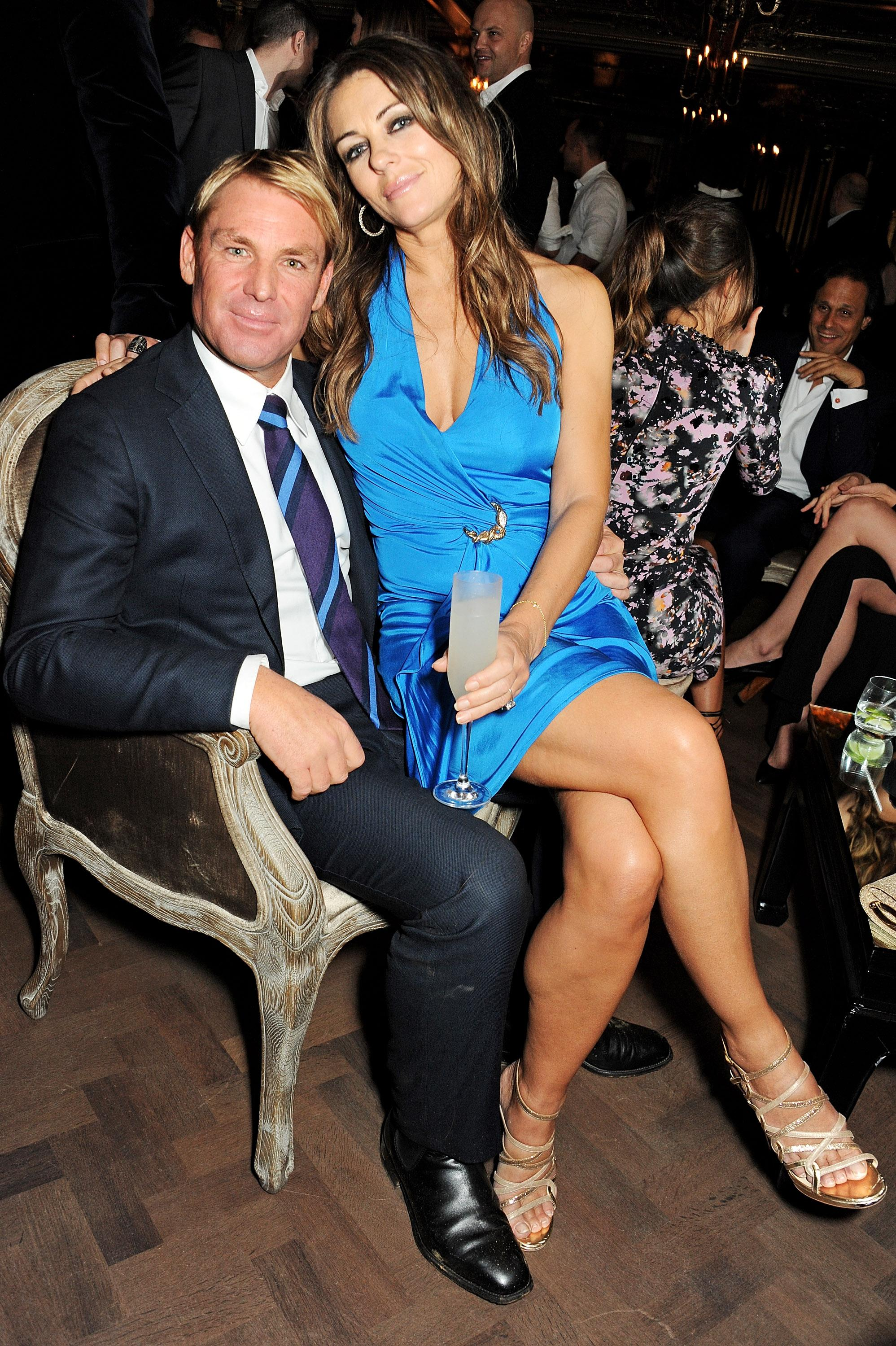 Shane Warne said he fell in love with British actress Liz Hurley who he dated between 2010-2013