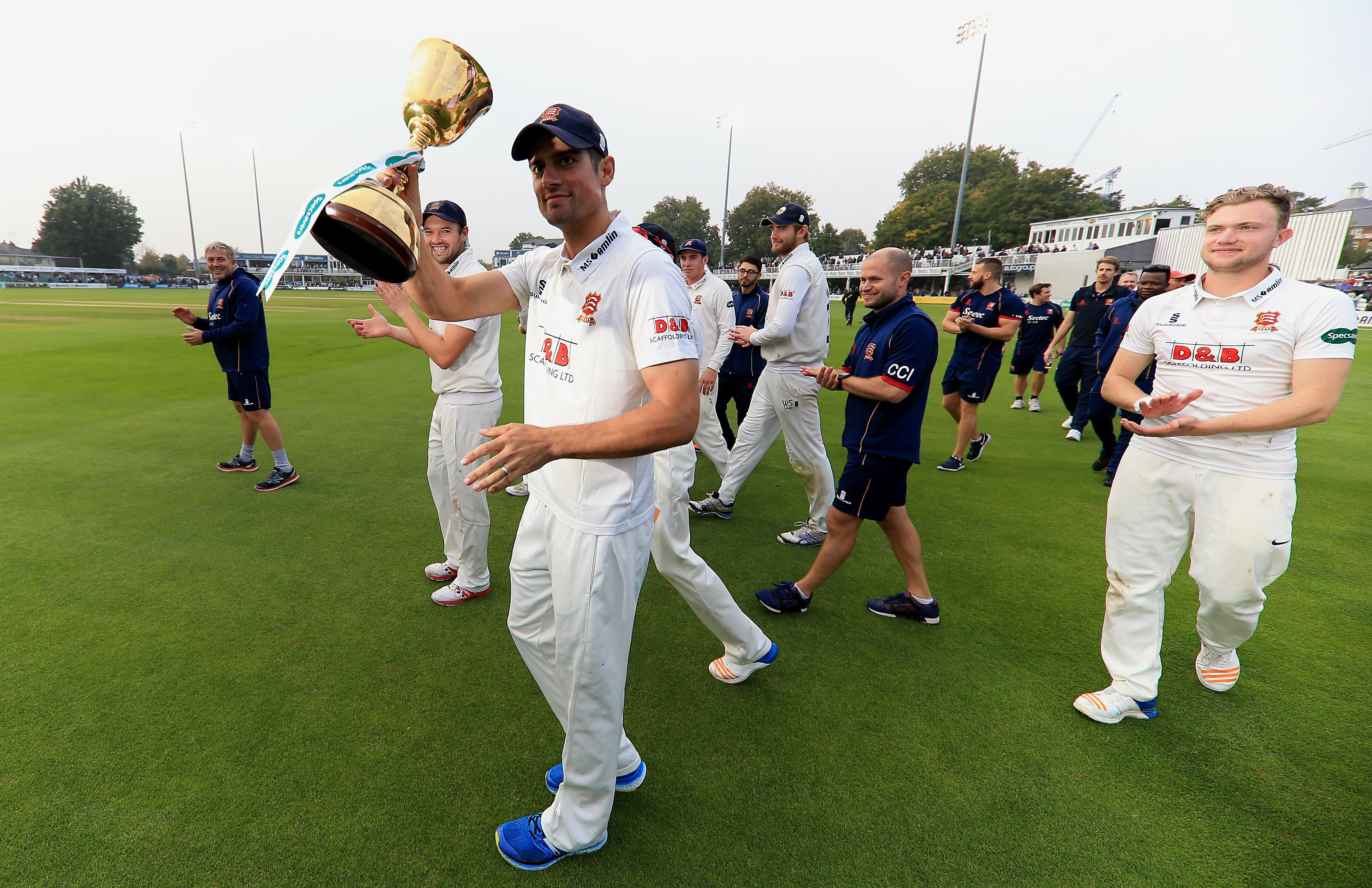 Alastair Cook lifted the County Championship with Essex in 2017
