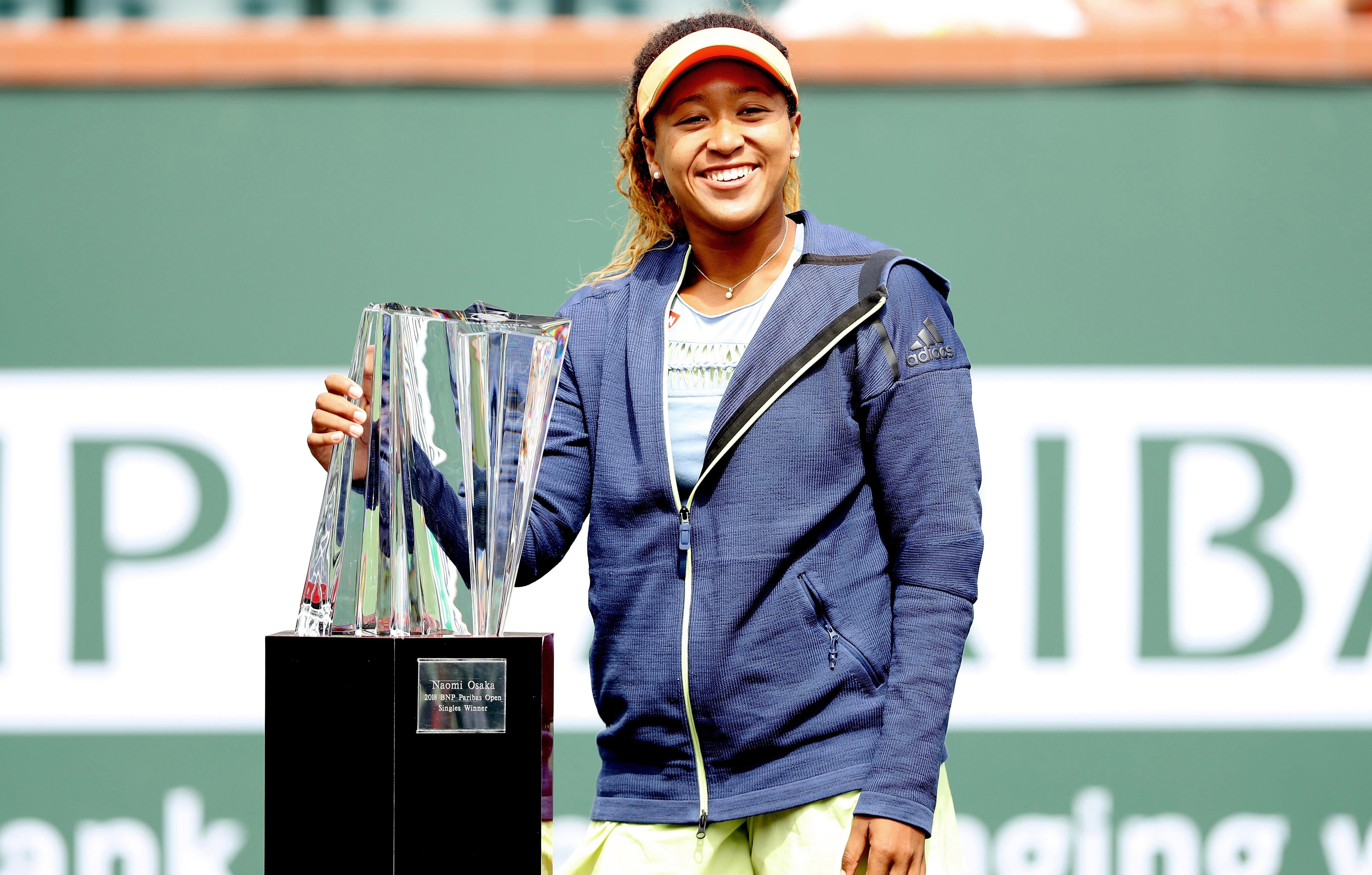 Osaka won the Indian Wells tournament in March - her first title