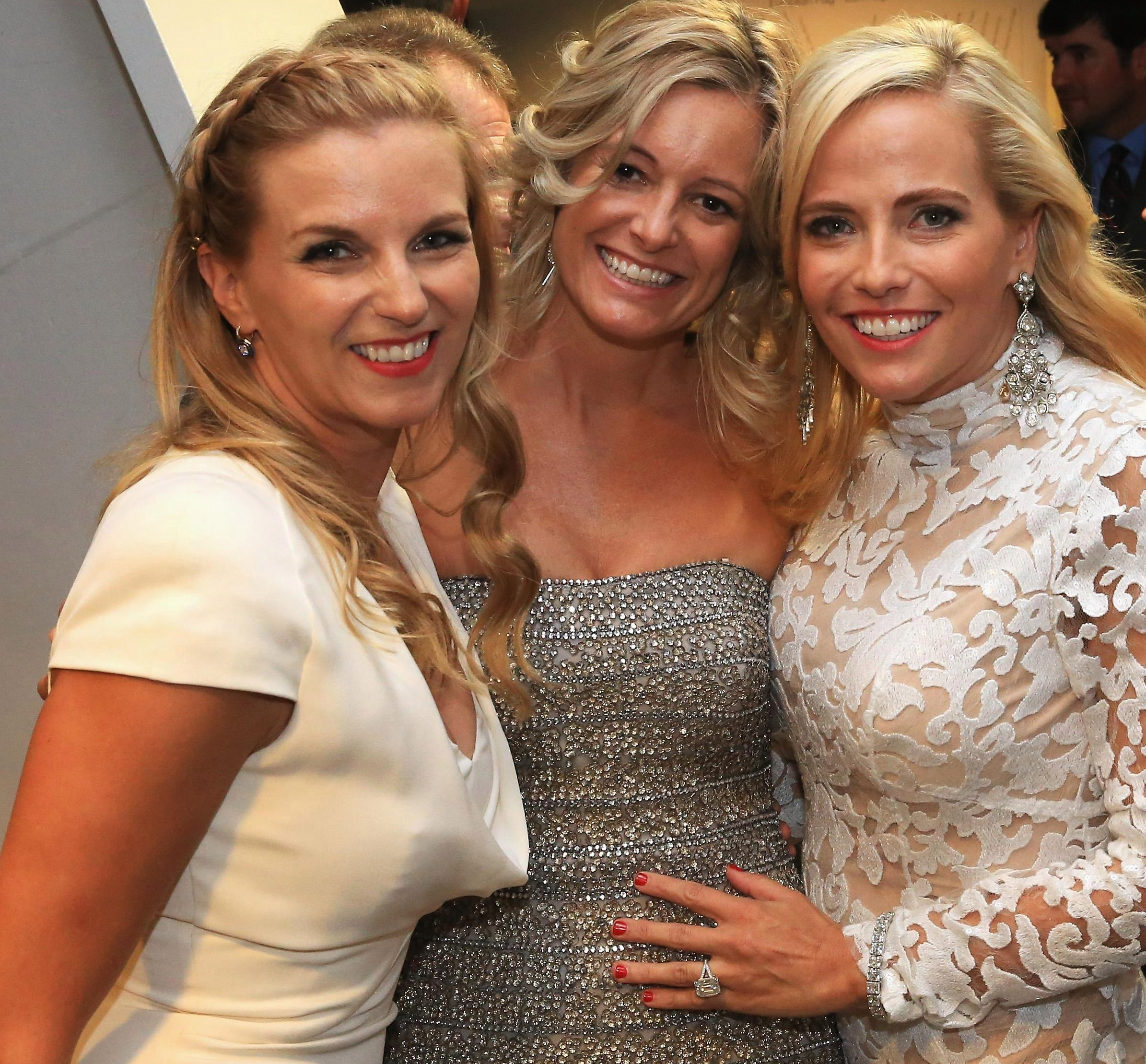 Kate Rose, Tabitha Furyk and Amy Mickelson pose during the 2014 Ryder Cup Gala Concert