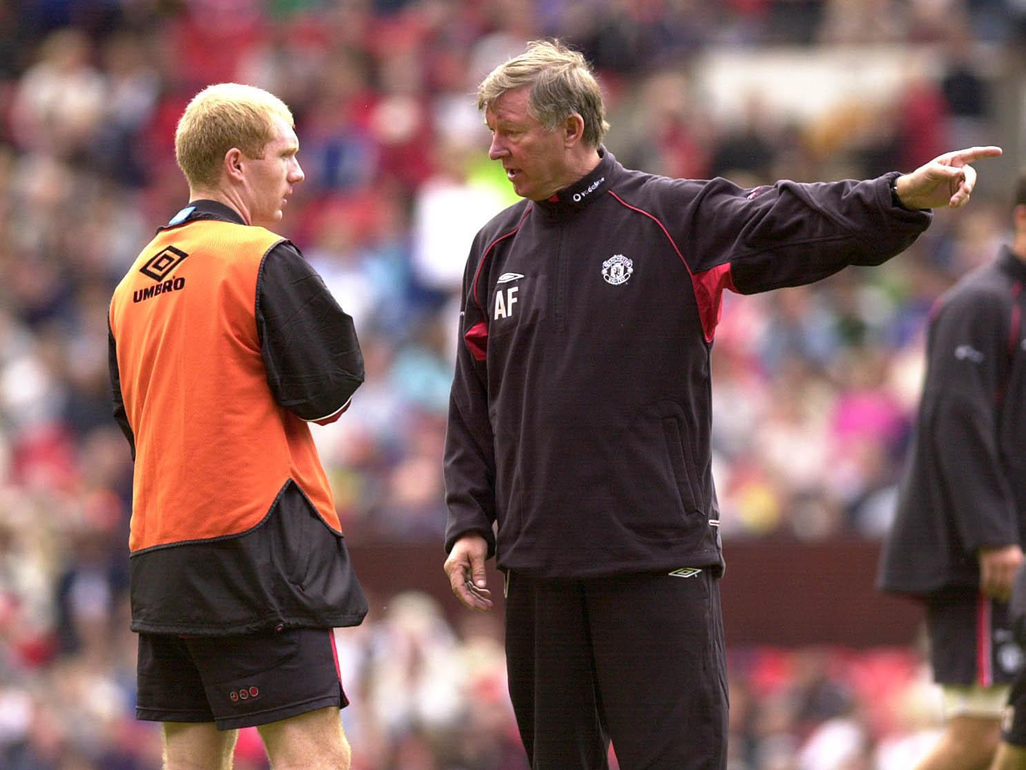 Fergie and Scholes enjoyed a successful relationship as manager and player over a series of trophy-laden years