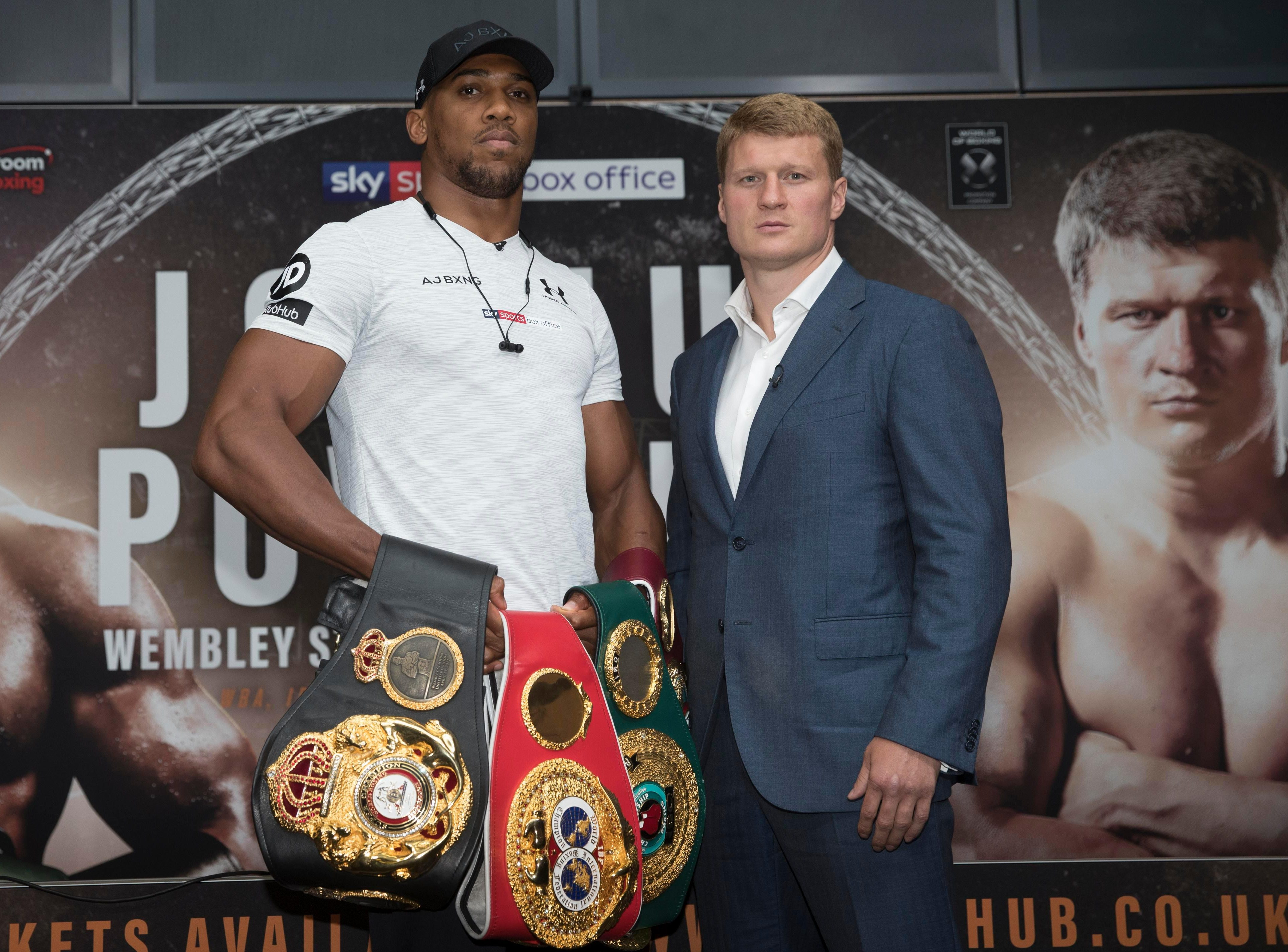 Anthony Joshua will put his titles on the line against Alexander Povetkin at Wembley