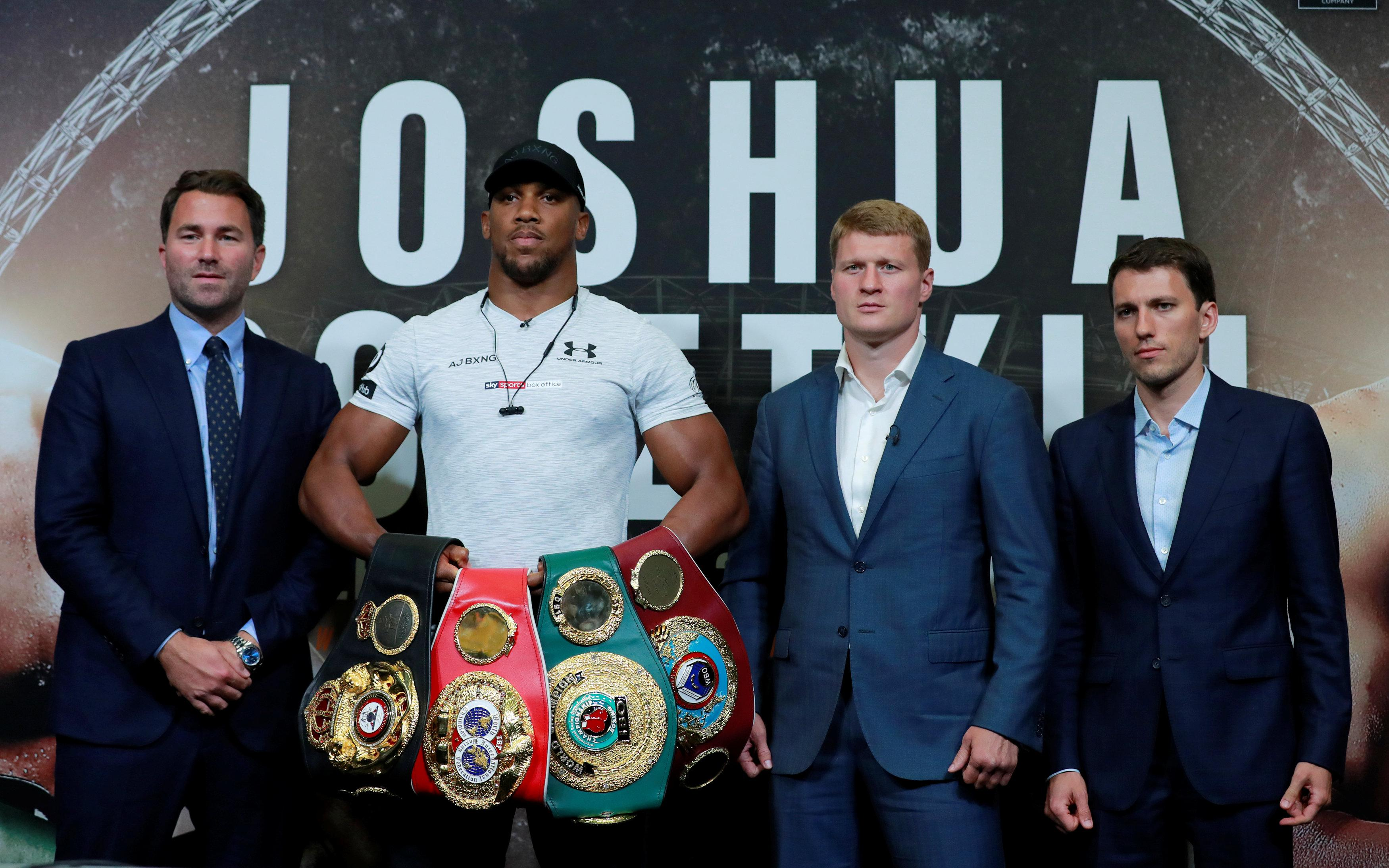 Anthony Joshua will put his four world titles on the line when he fight Alexander Povetkin on September 22