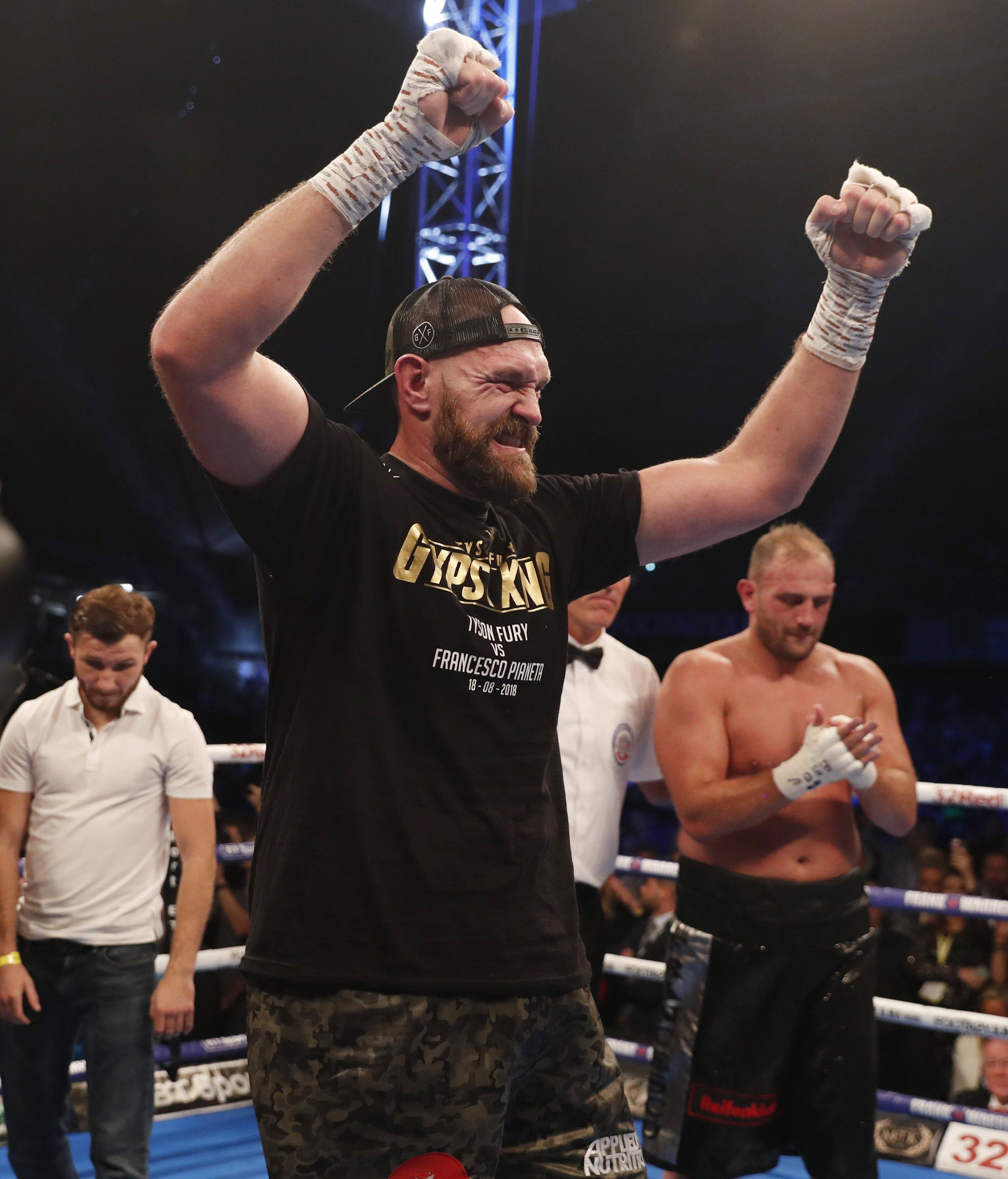 Tyson Fury has claimed that the Watford-born bruiser is scared of him