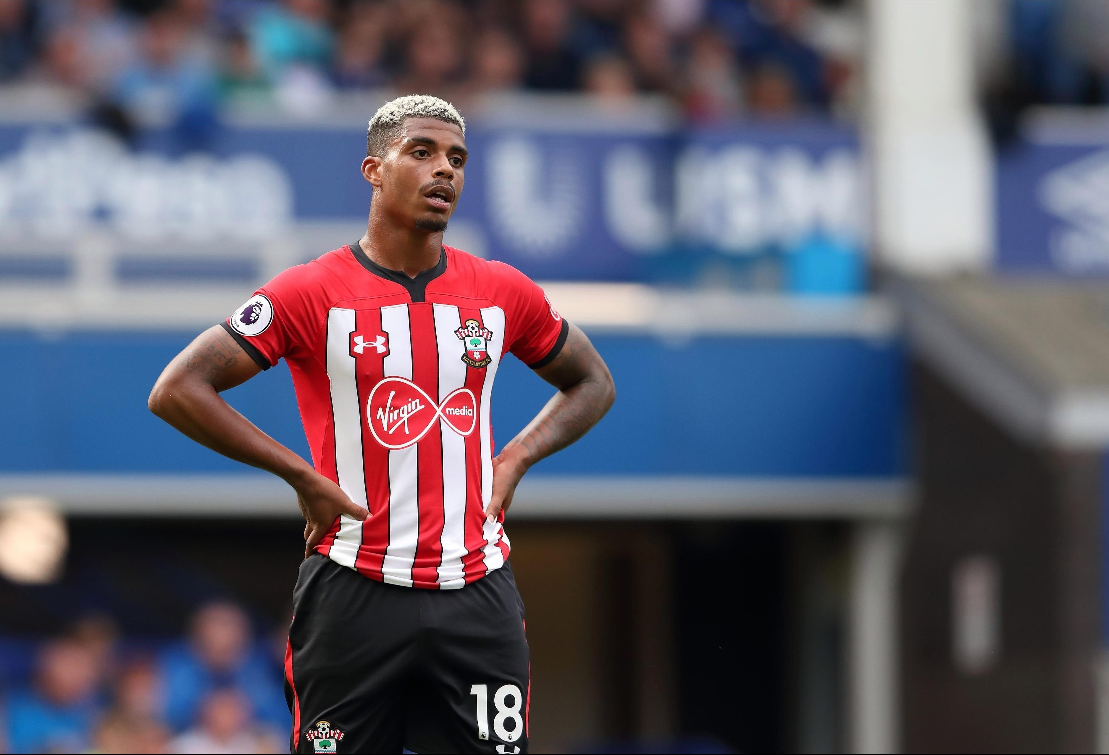 Mario Lemina during the Premier League match between Everton FC and Southampton FC at Goodison Park on August 18, 2018
