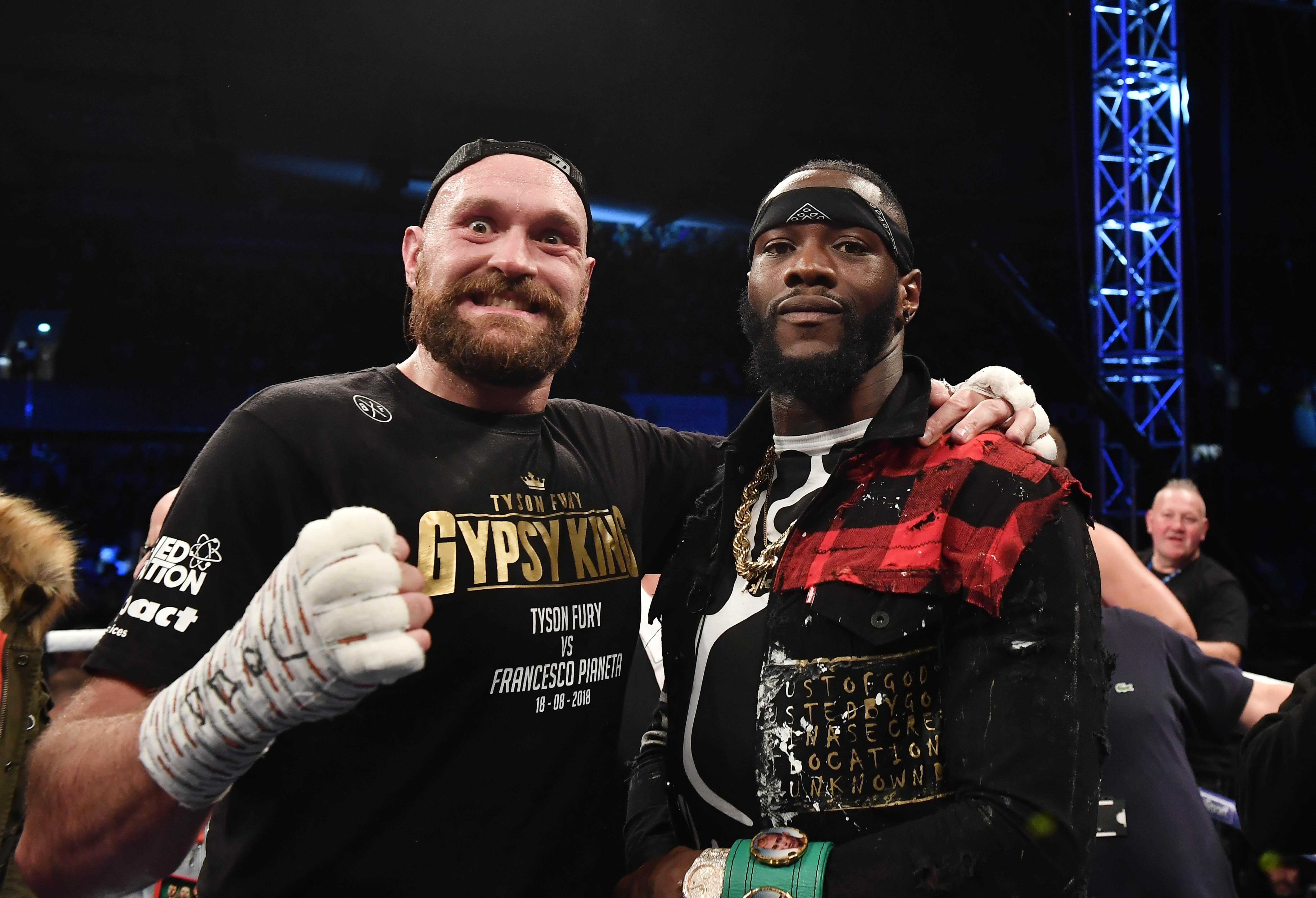 Tyson Fury vs Deontay Wilder is likely to be the next blockbuster fight this year - and AJ will be looking on with an eager eye to see how they get on