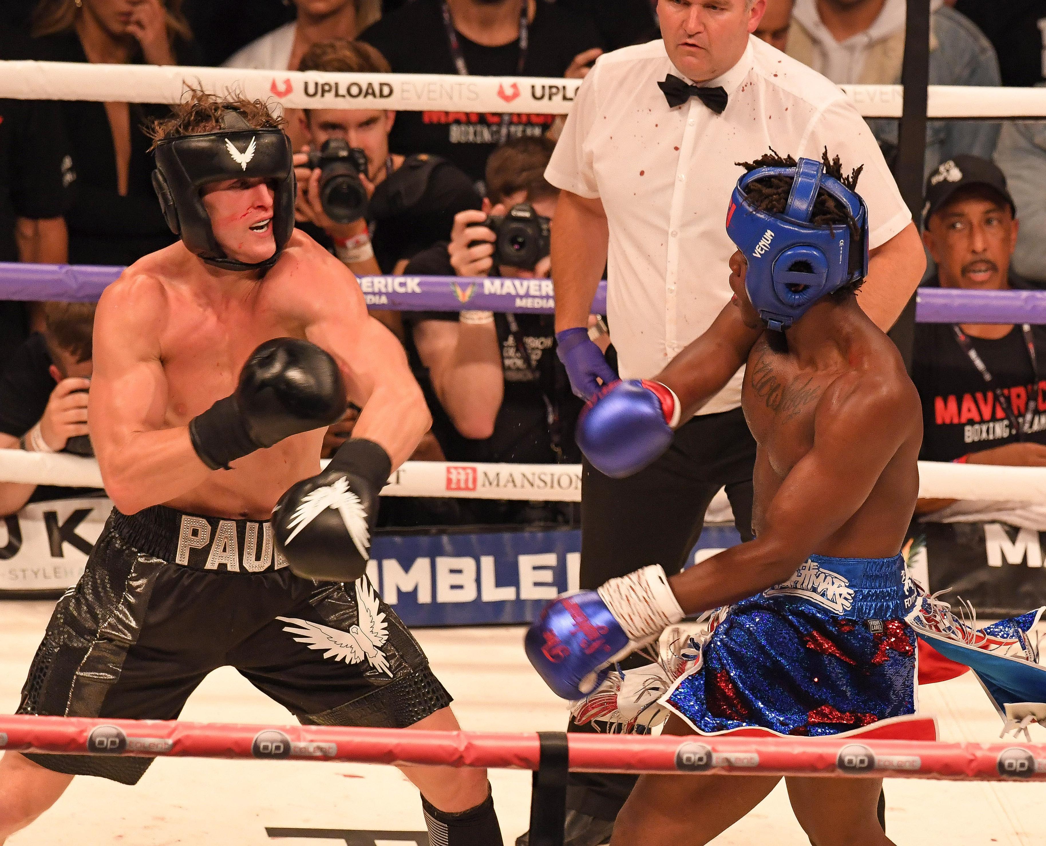 KSI, right, has slammed the judges again for not awarding him the win over Logan Paul