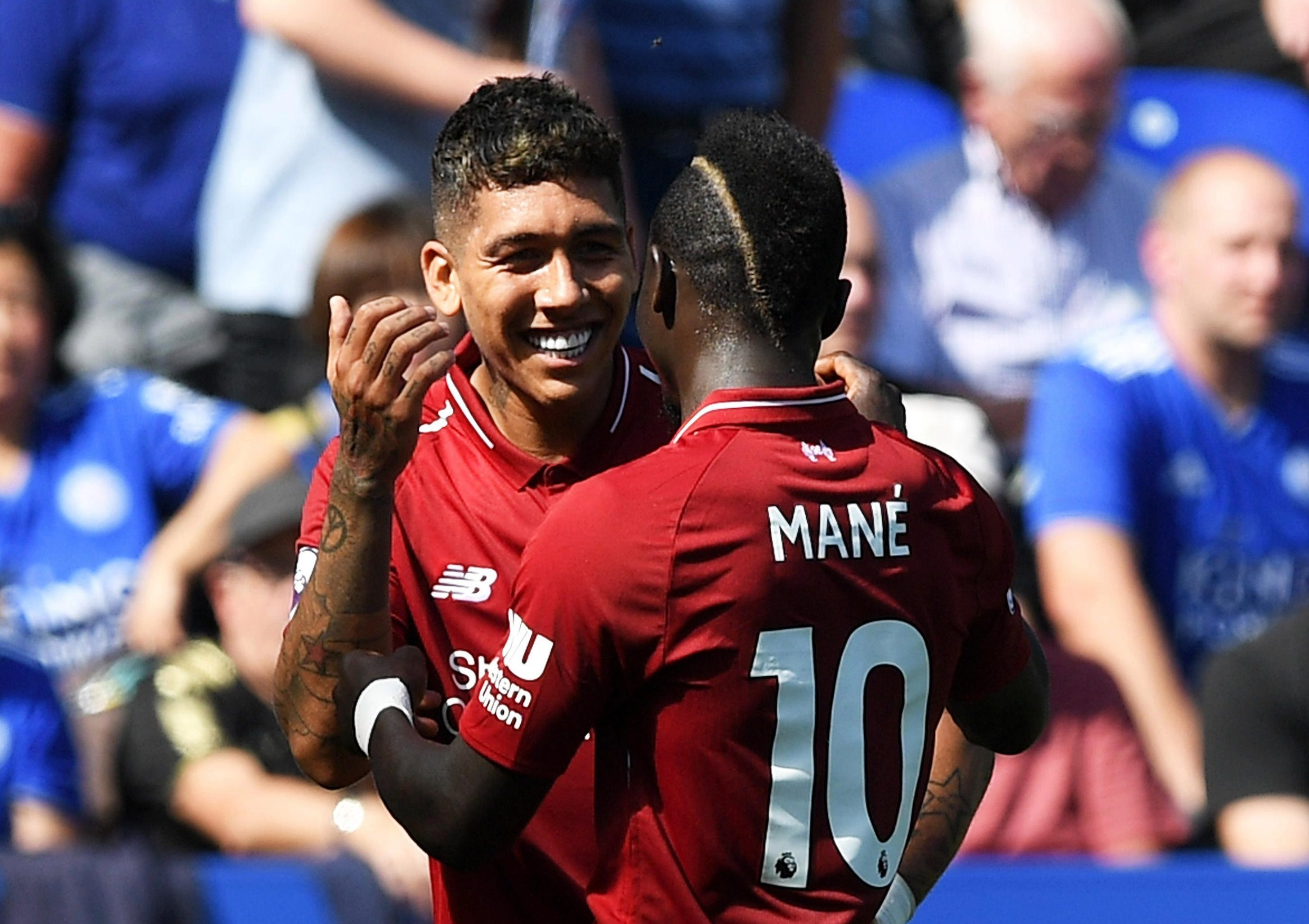 Roberto Firmino and Sadio Mane both scored as Liverpool beat Leicester at the King Power Stadium