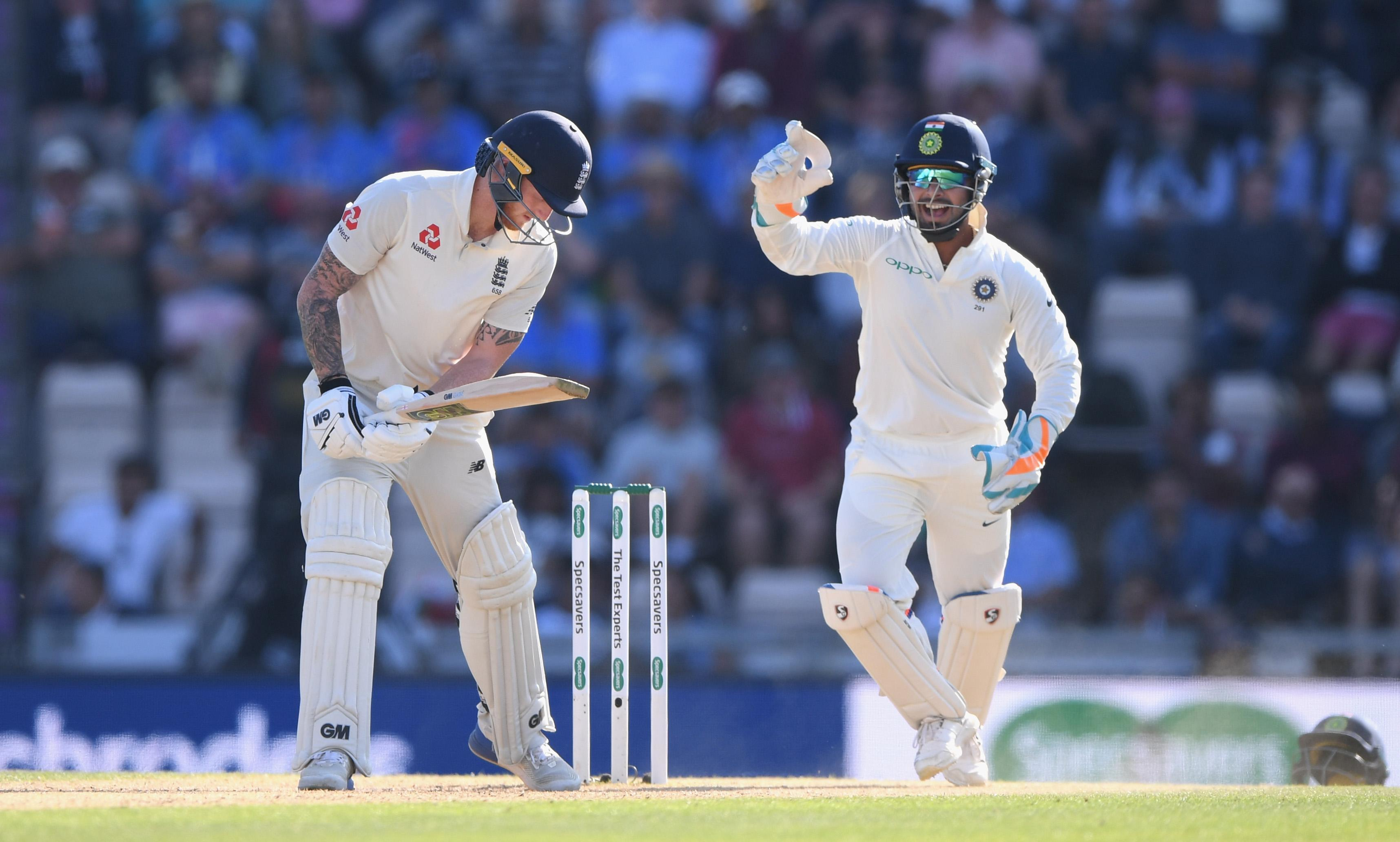 Ben Stokes batted patiently for his 30 from 110 balls