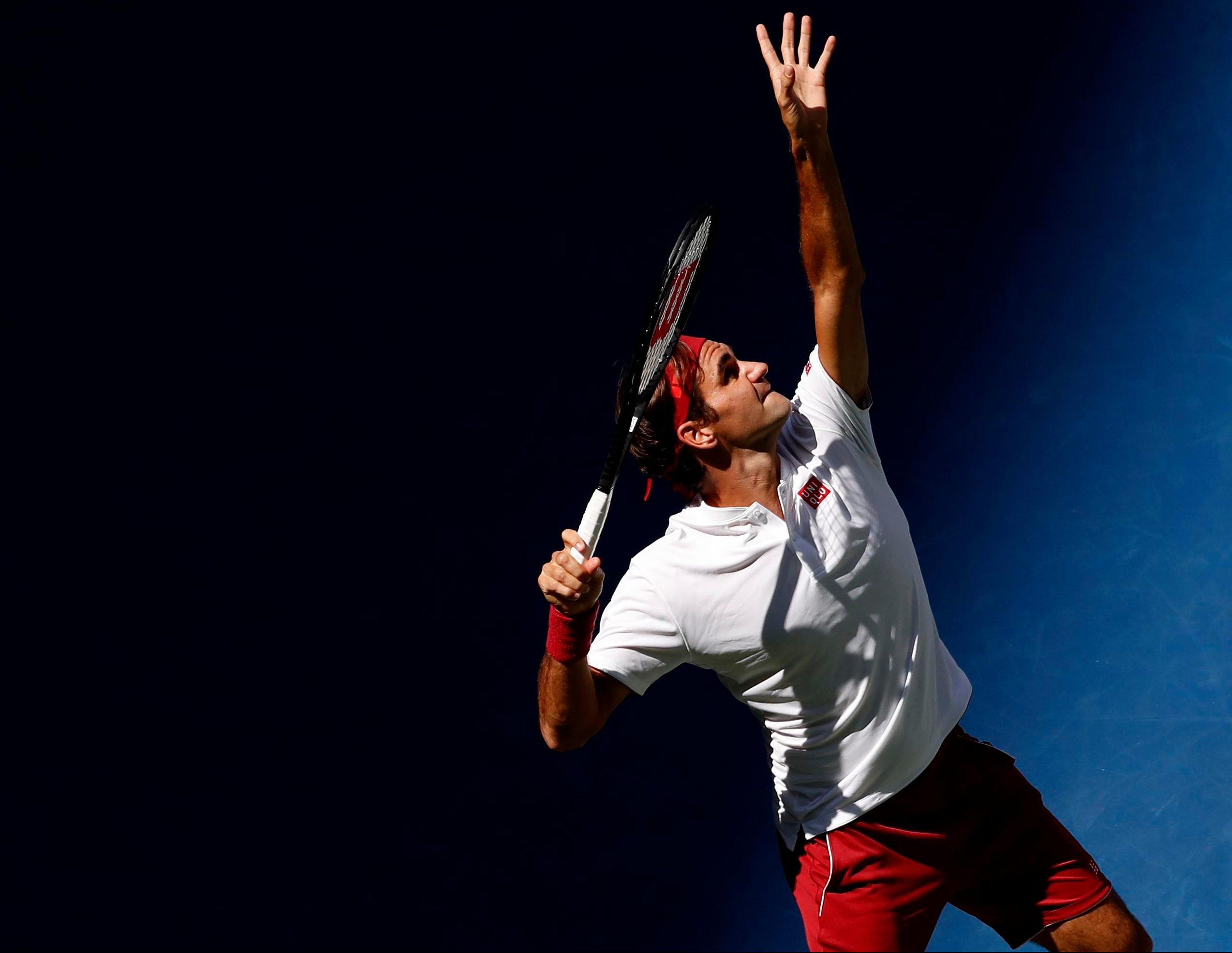 Federer produced an excellent, dominant performance on Arthur Ashe Stadium in the afternoon sun in New York