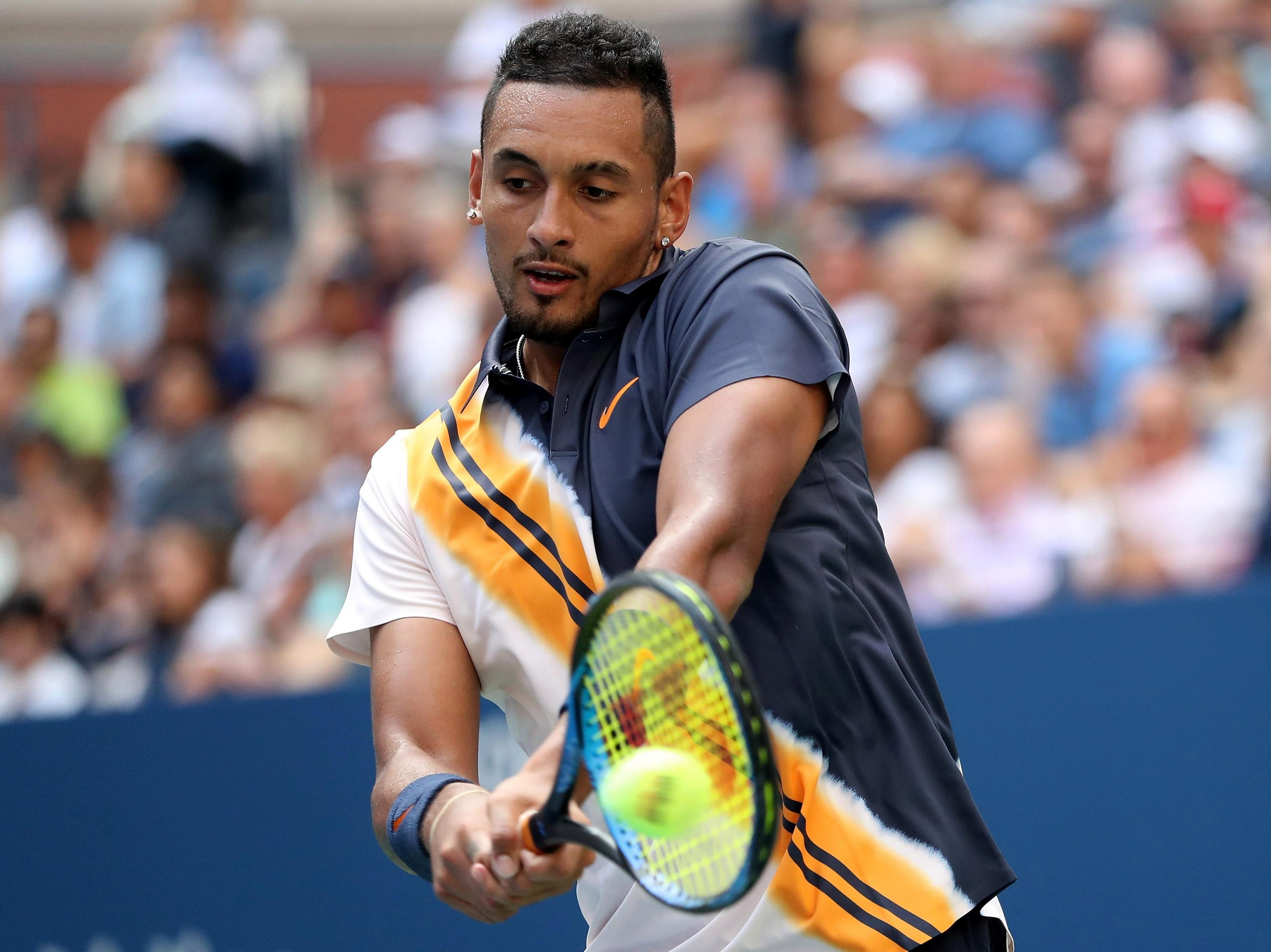 Kyrgios has still never been beyond the third round at Flushing Meadows and suffered his third exit at this stage
