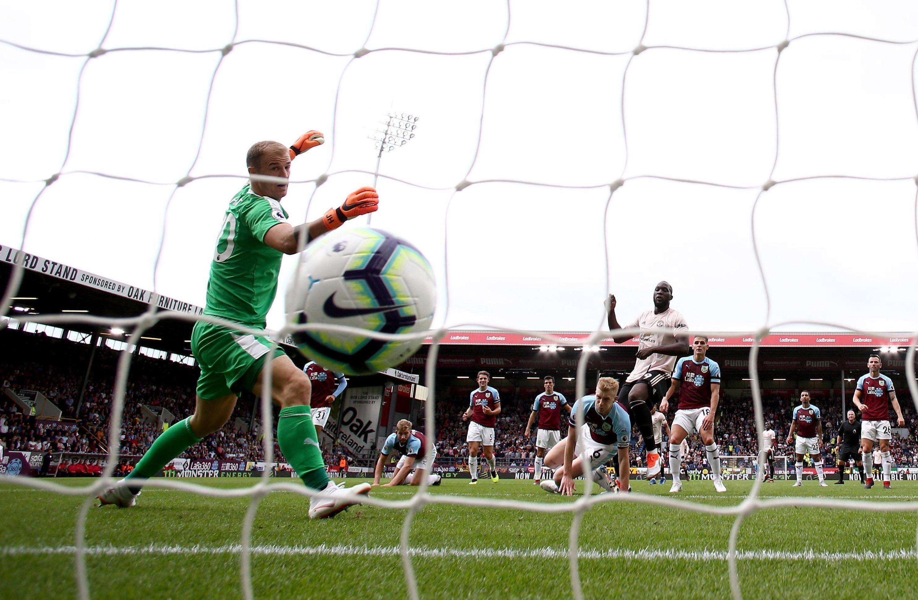 Joe Hart can only watch in anger as Romelu Lukaku made it 2-0