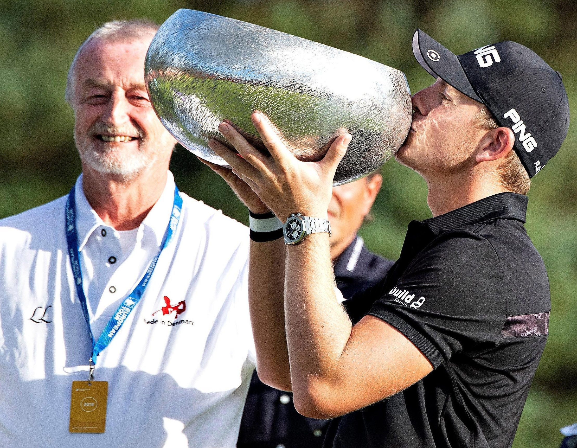Brit Matt Wallace toasts his impressive victory in the Made in Denmark event