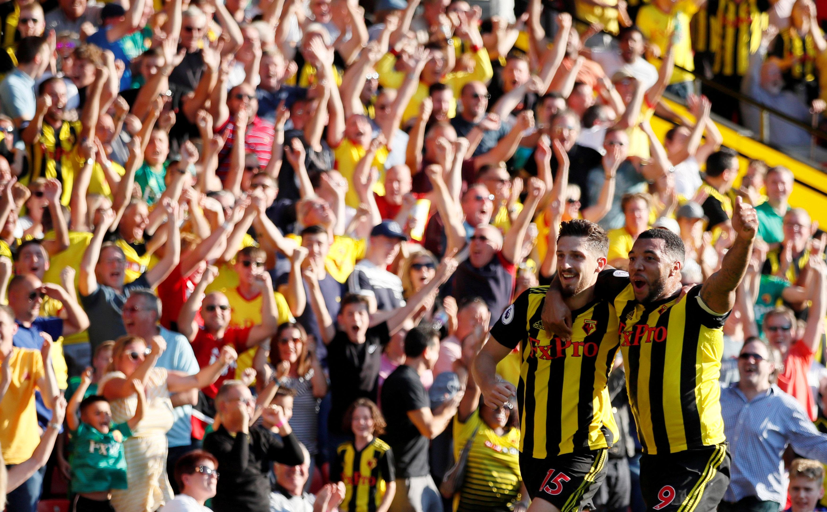 Watford fans are loving their start to the season and are dreaming of bigger things
