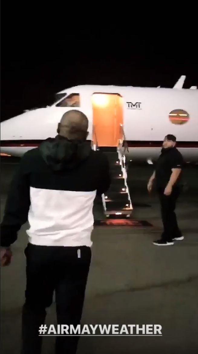 Floyd Mayweather has given fans an insight into his jet set lifestyle