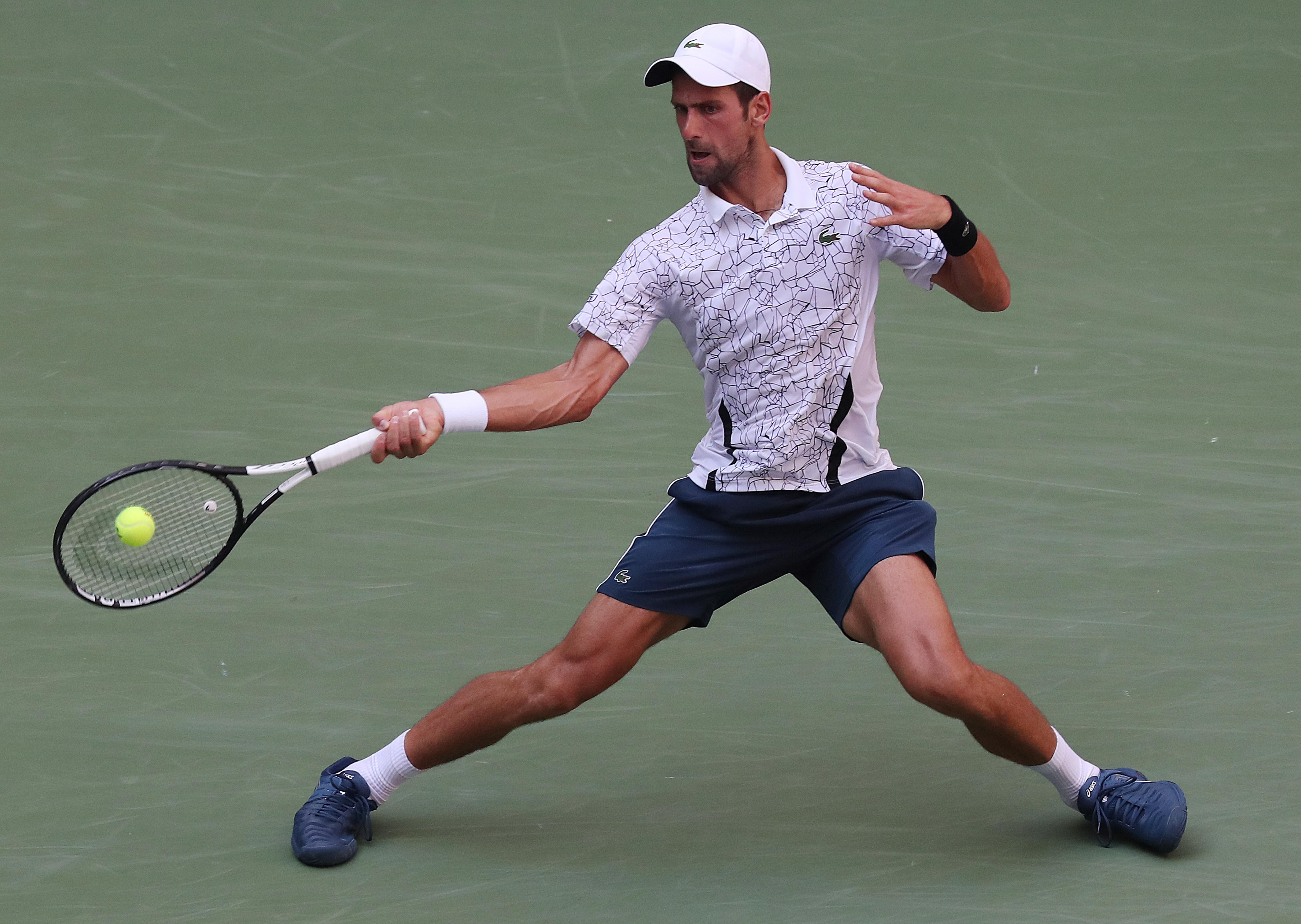 Despite his struggles, Djokovic battled through to reach his 11th quarter-final at the US Open