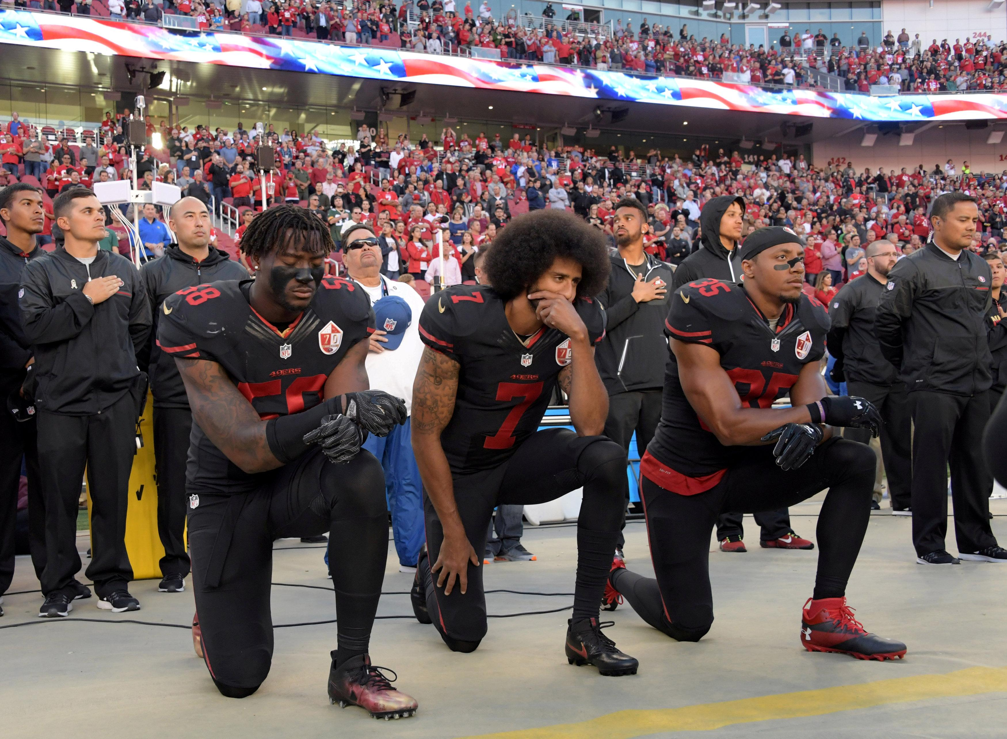 He was one of the first players to kneel with Colin Kaepernick