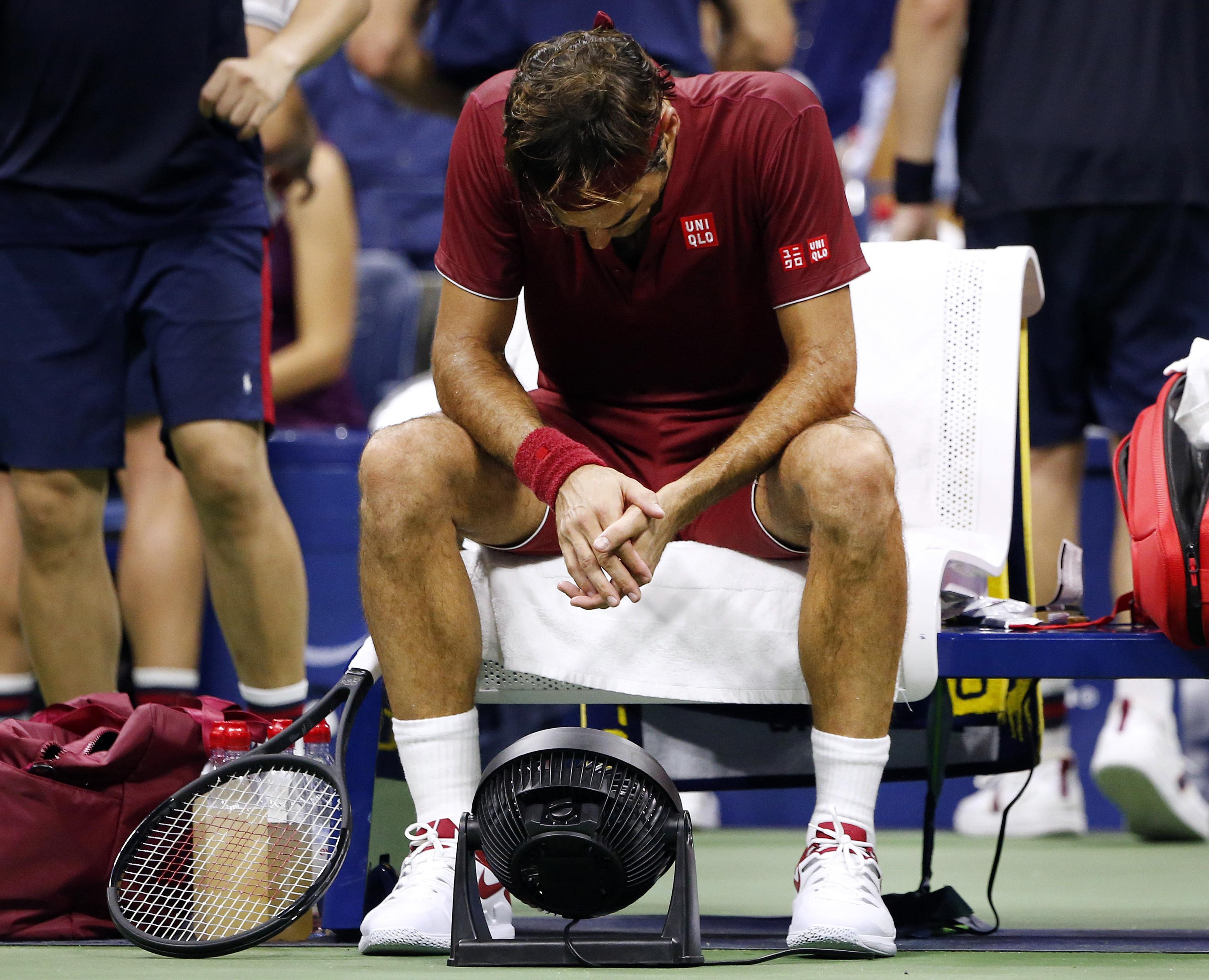Tennis legend Roger Federer could not stop John Millman