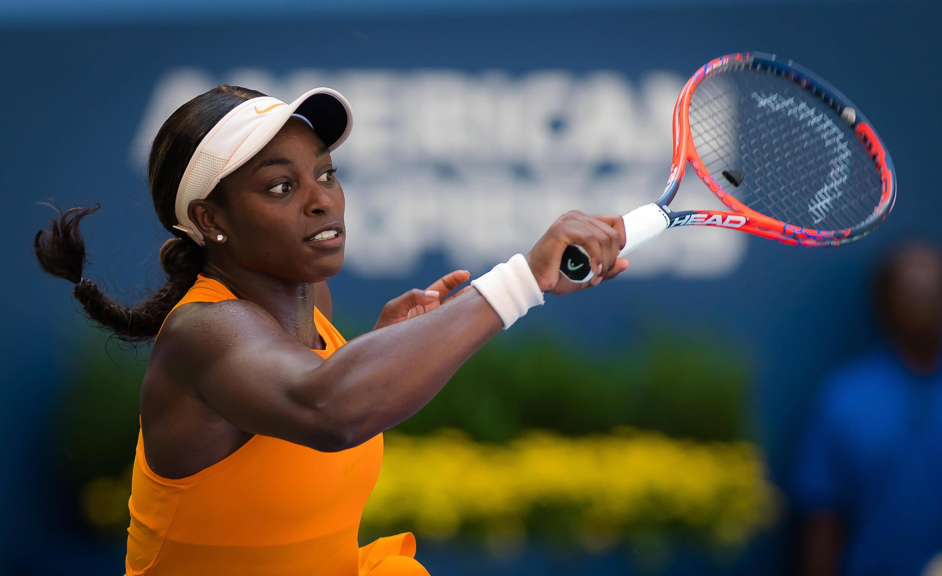 Sloane Stephens went out in the heat in front of a home crowd