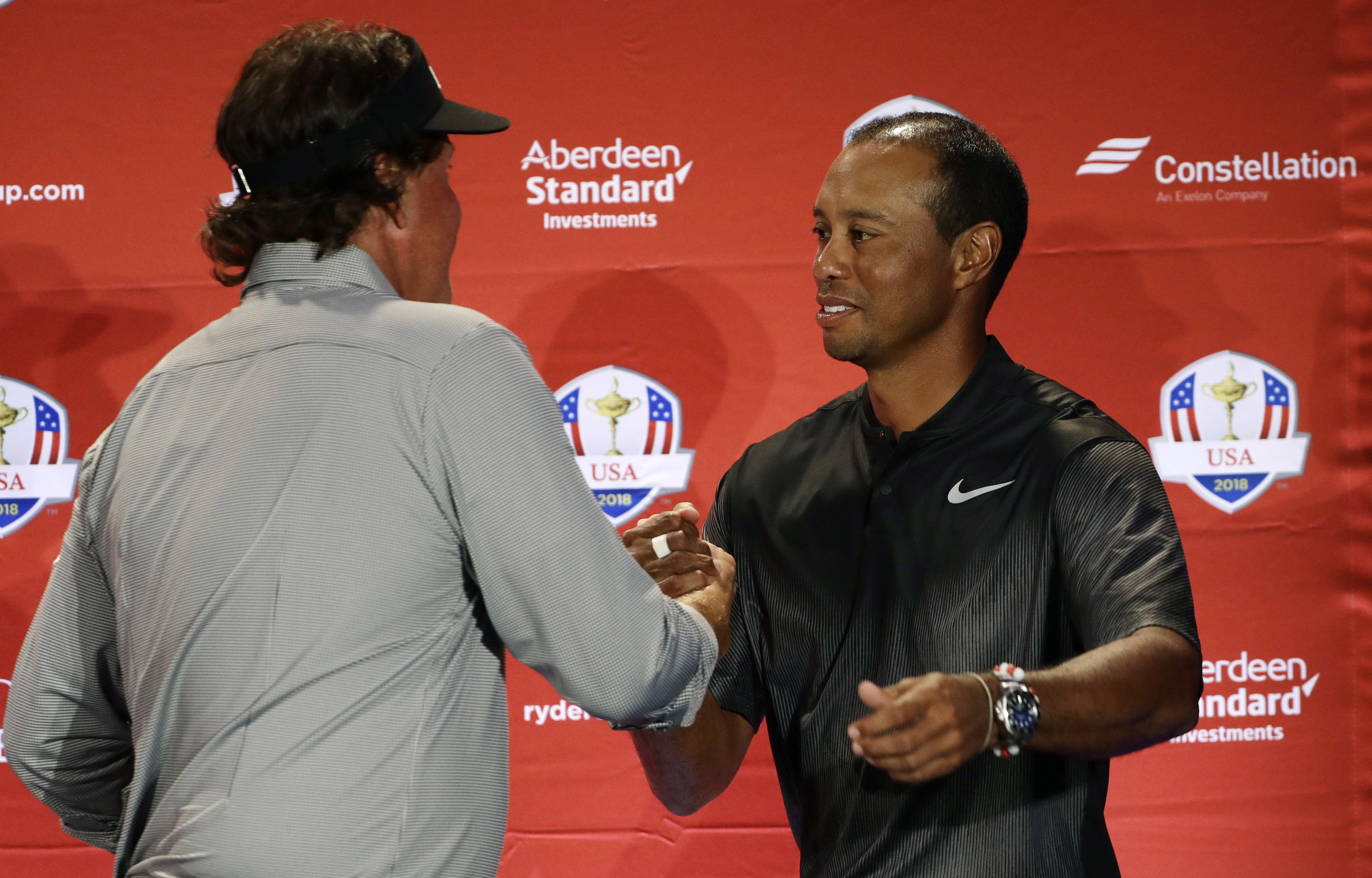 Woods and Mickelson were once foes but they have a growing bromance these days