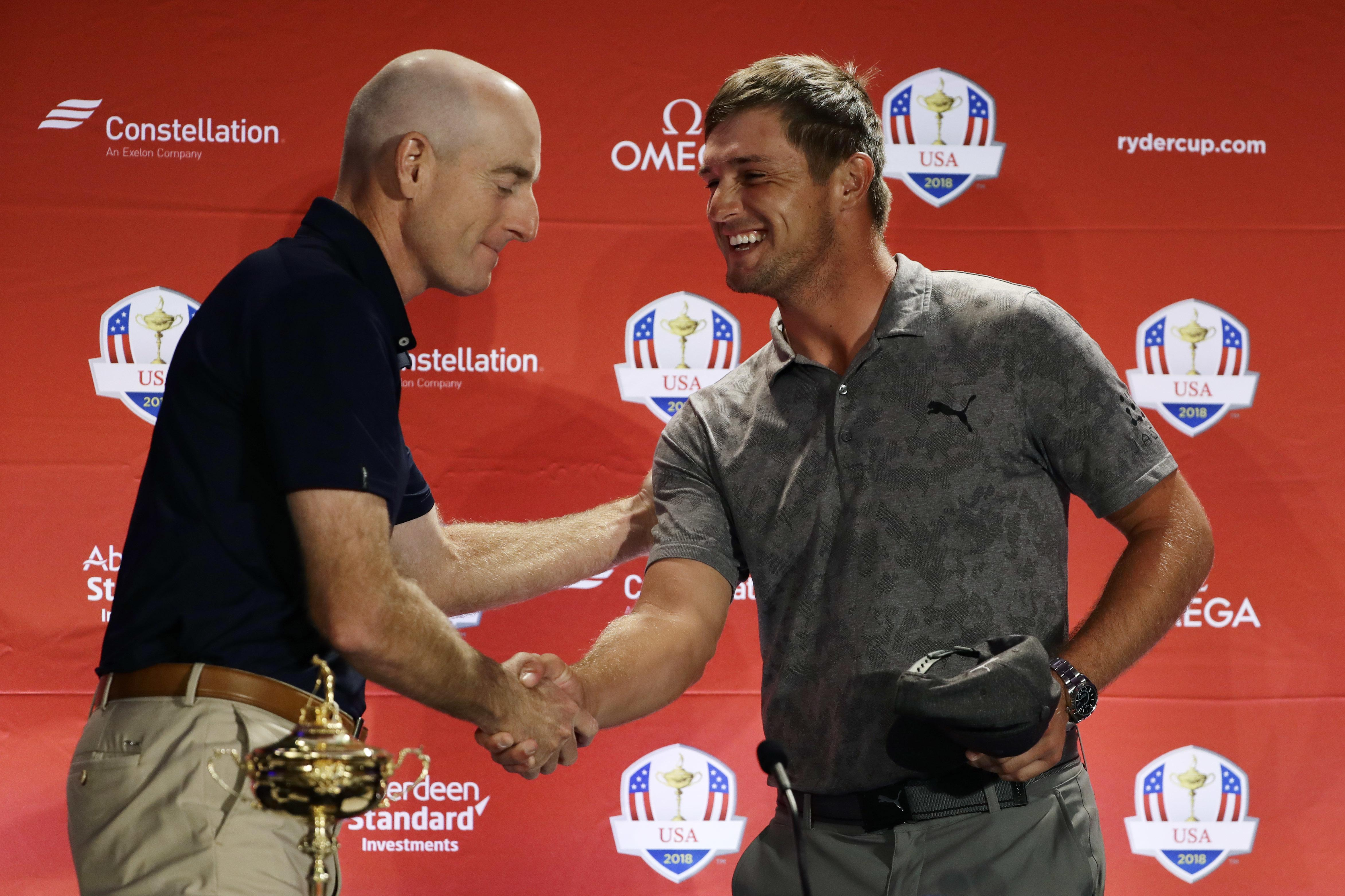 Furyk congratulates DeChambeau on his pick