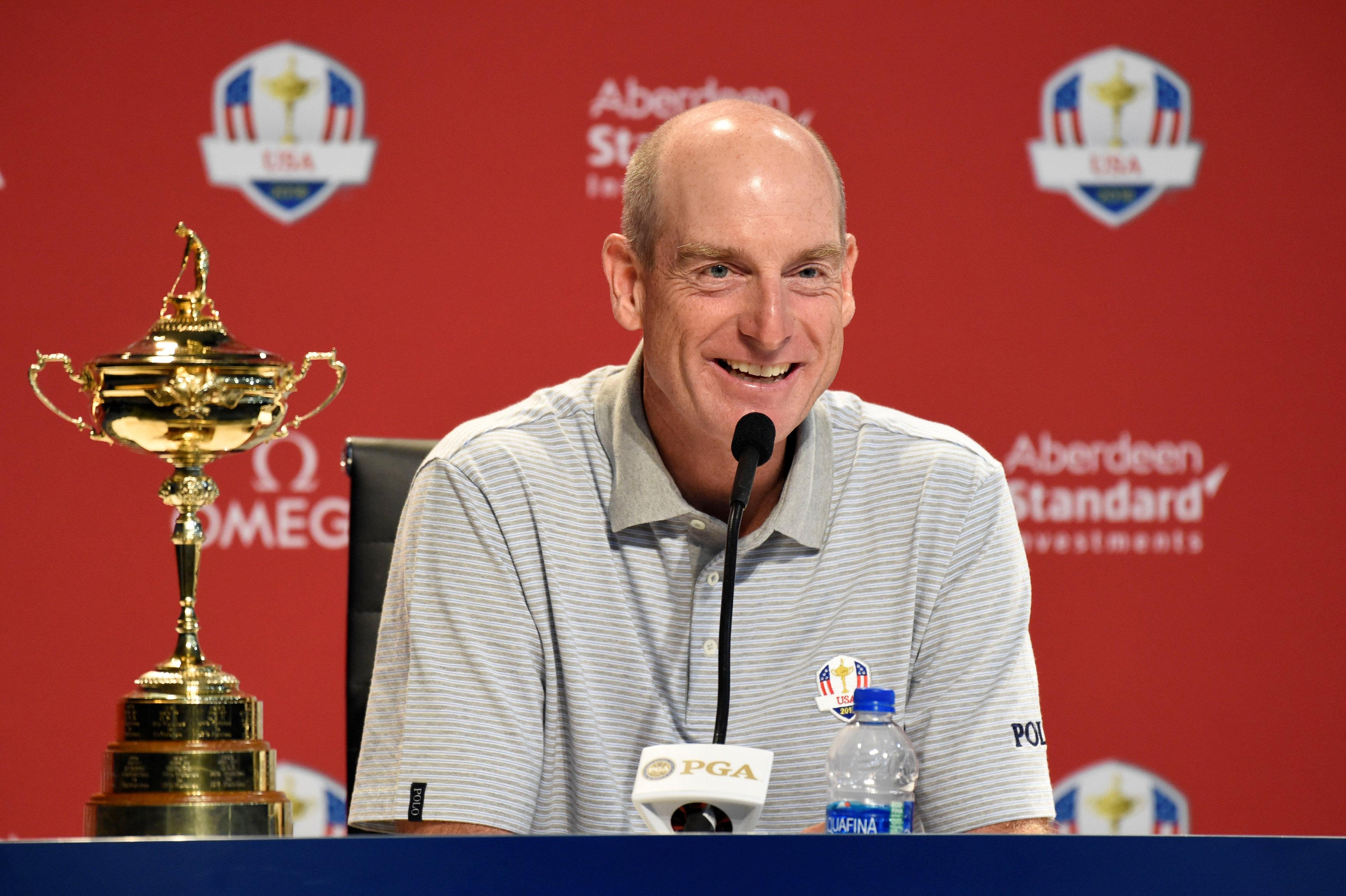 USA captain Jim Furyk was all smiles as he announced his wildcards