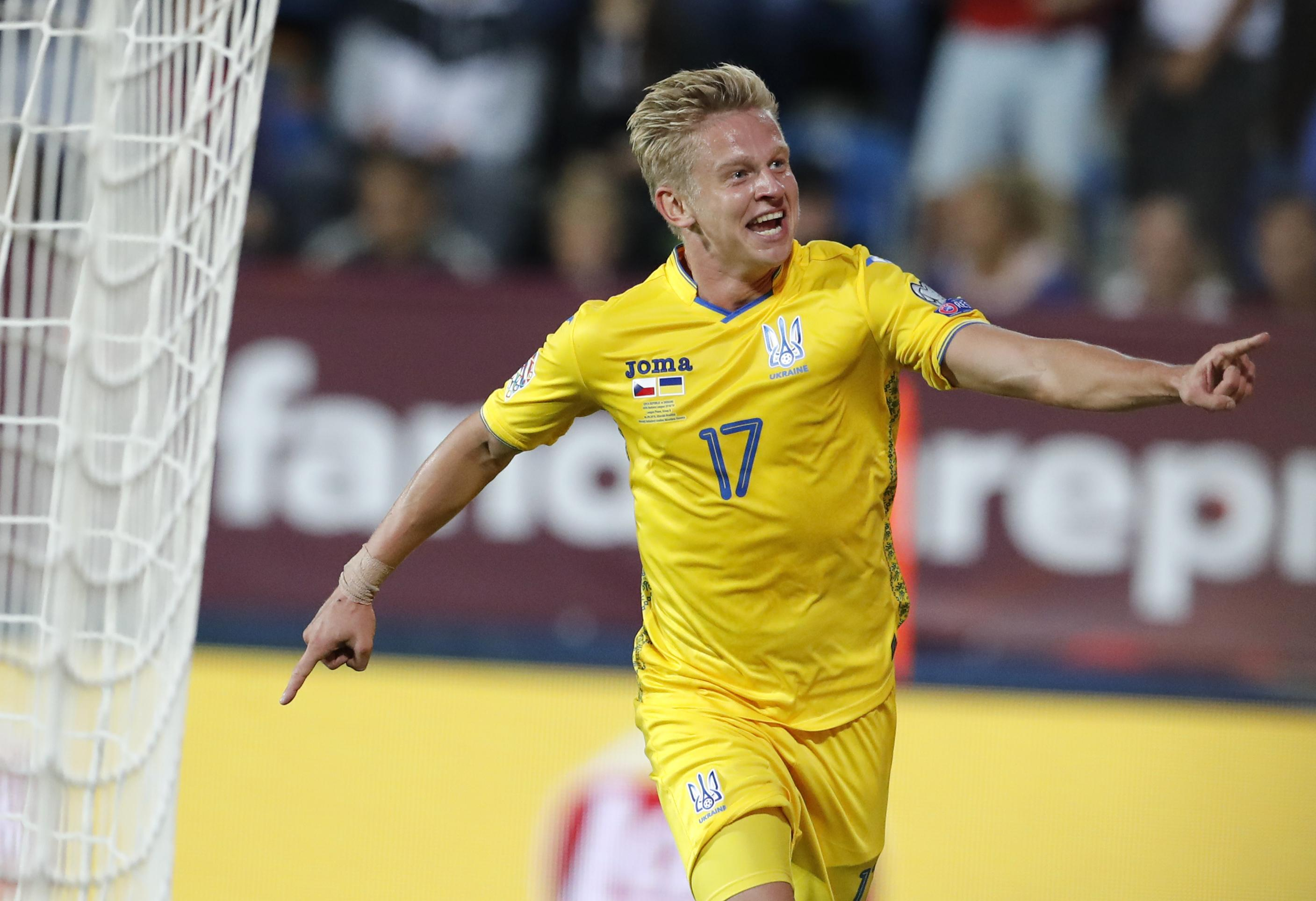 Manchester City's Olexandr Zinchenko grabbed an injury-time winner for Ukraine