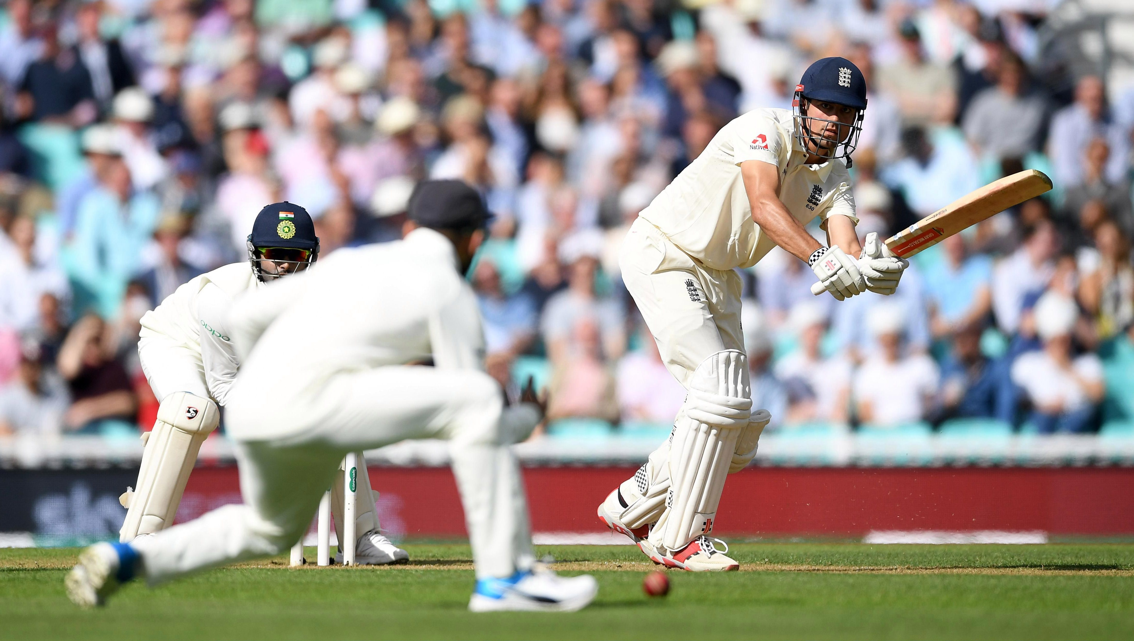 Alastair Cook hits out as he bats confidently through the first two sessions