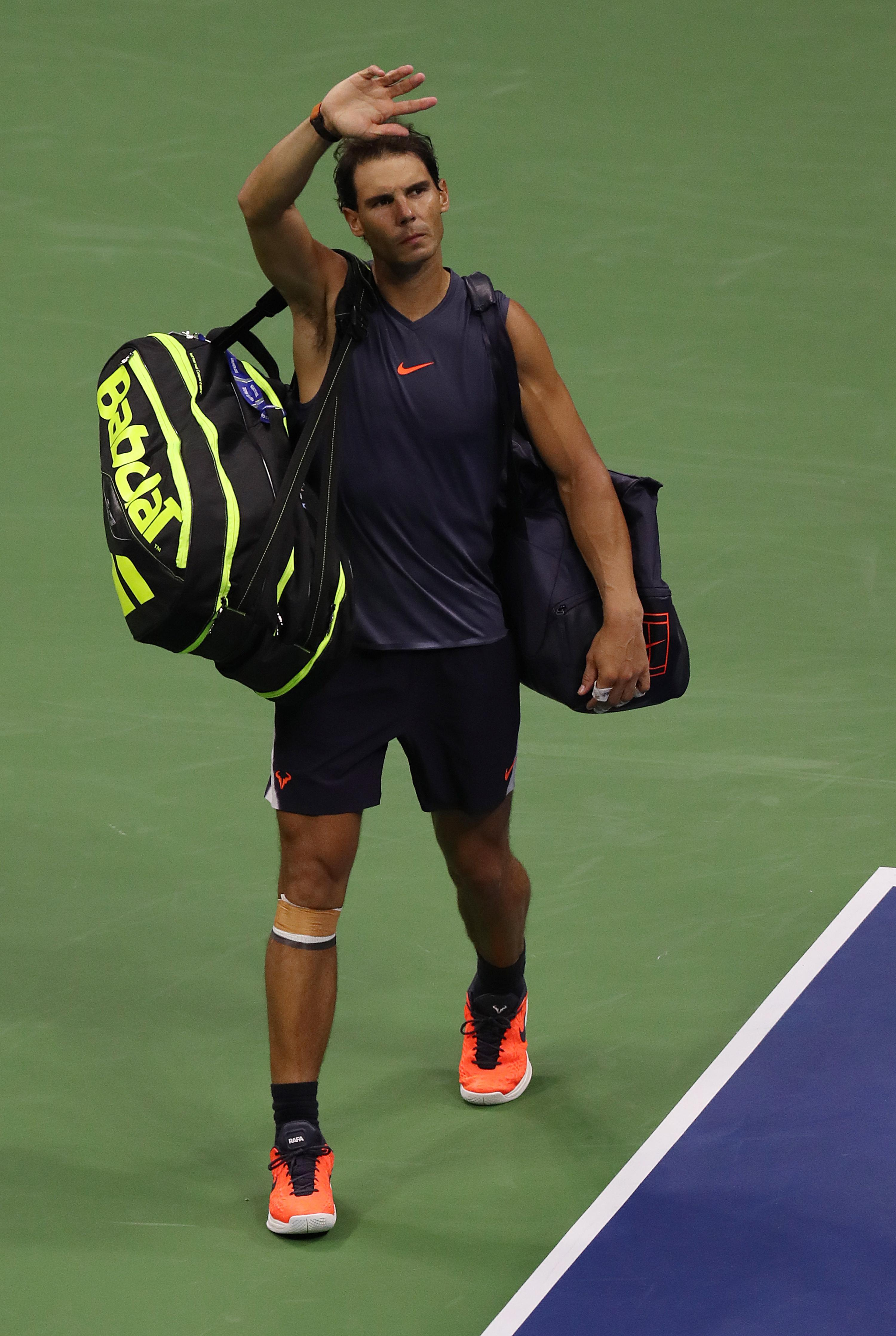 Rafael Nadal had to retire against Juan Martin del Potro in the US Open semi-final with an injury
