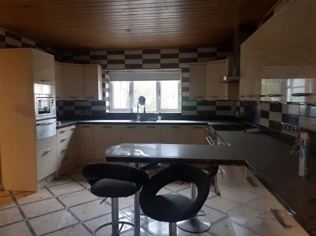 The kitchen looked rather dull before the makeover