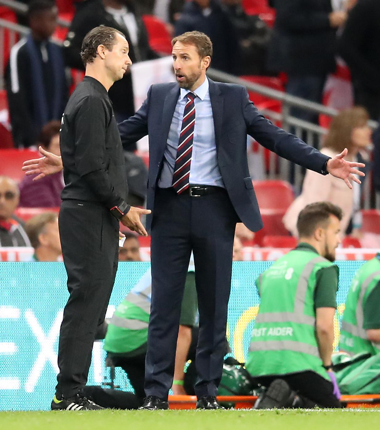Southgate was also fuming with the officials over Welbecks disallowed goal - and felt it cost them a point