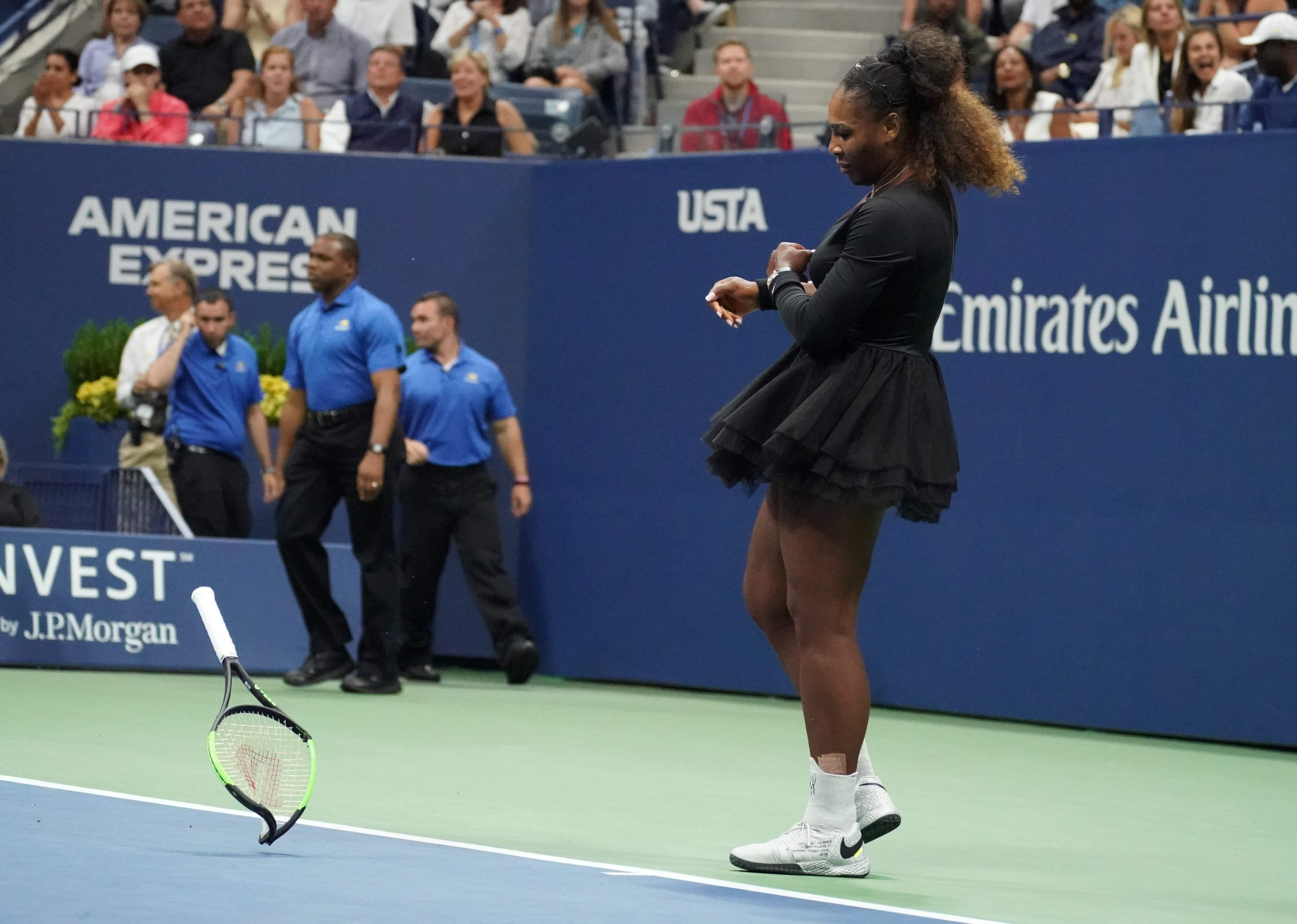 Serena Williams was left furious during the US Open final
