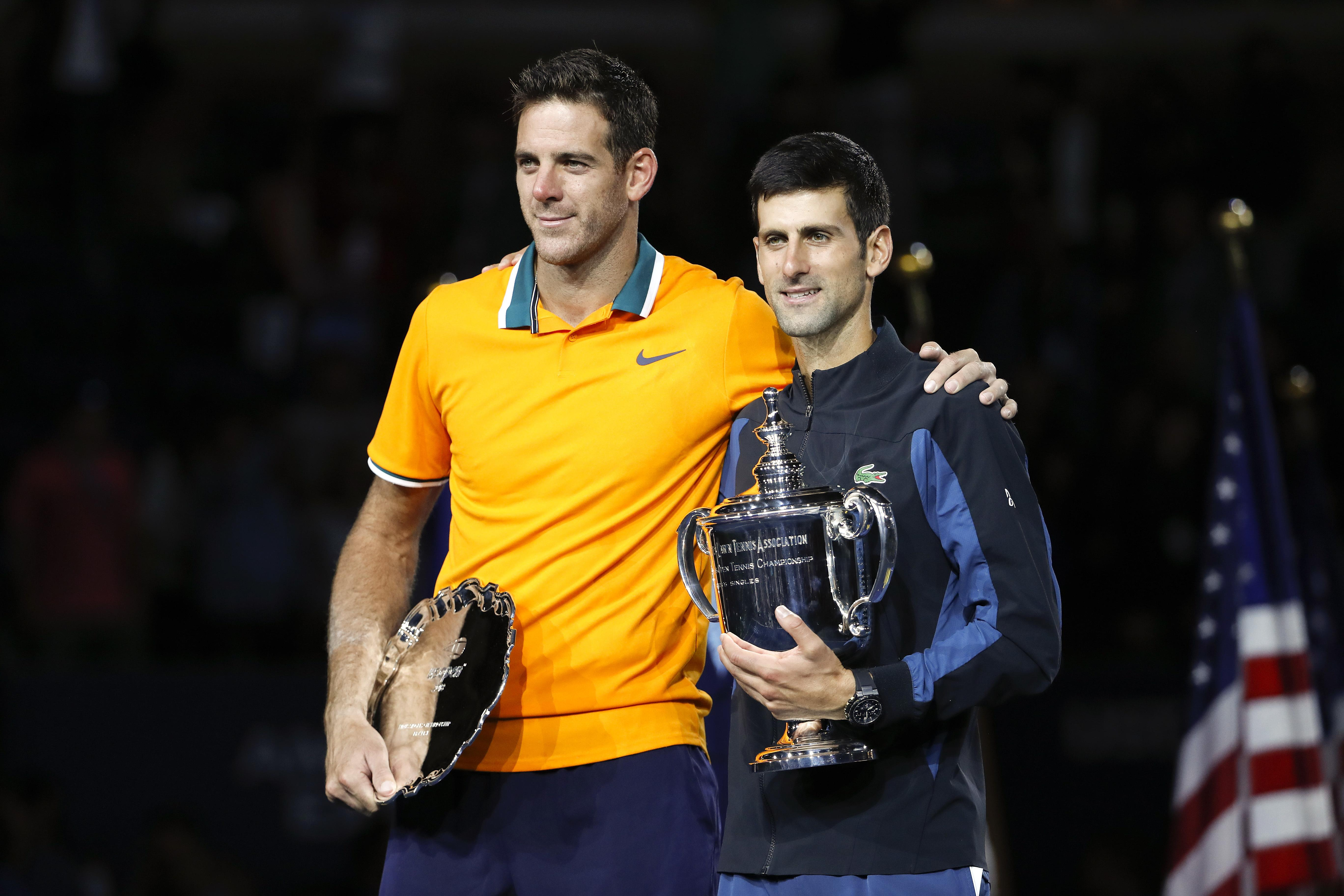 Juan Martin Del Potro was aiming for only his second Grand Slam win, following his 2009 US Open triumph