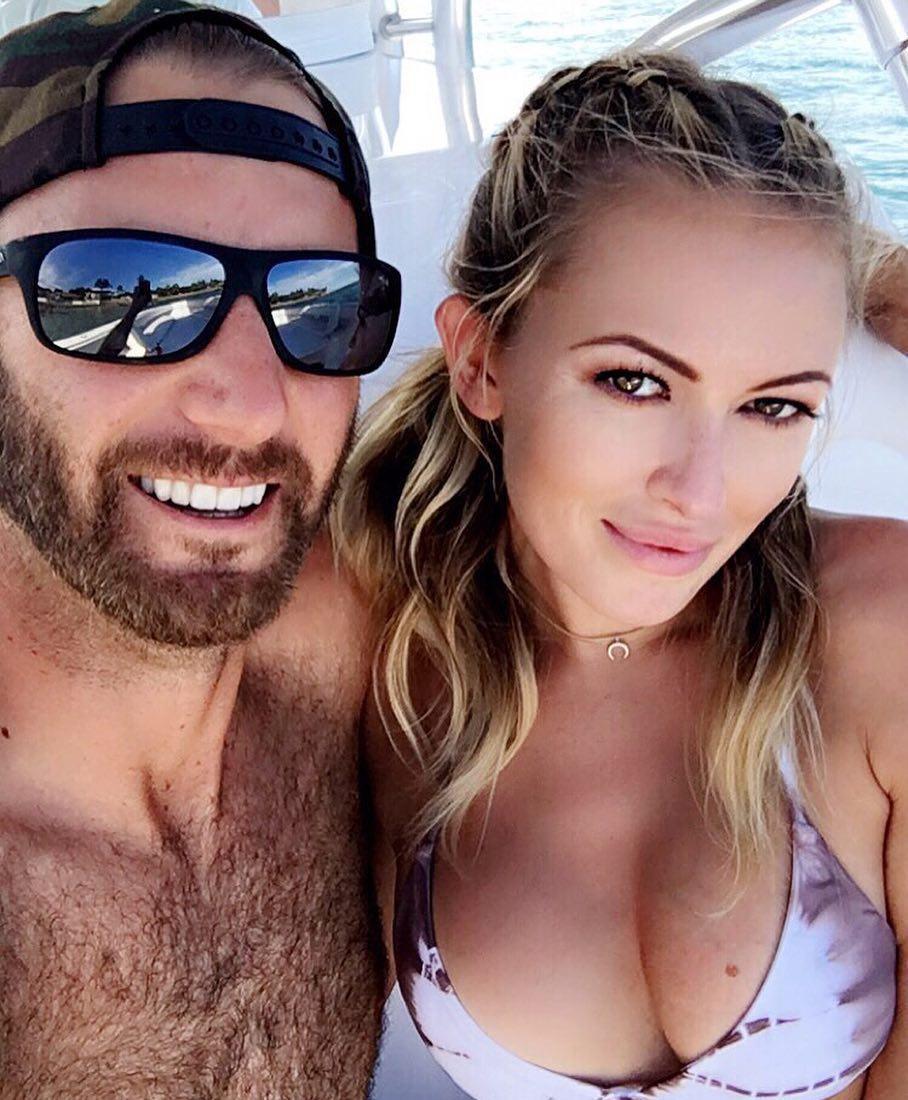 Dustin Johnson has addressed the split rumours with fiancee Paulina Gretzky