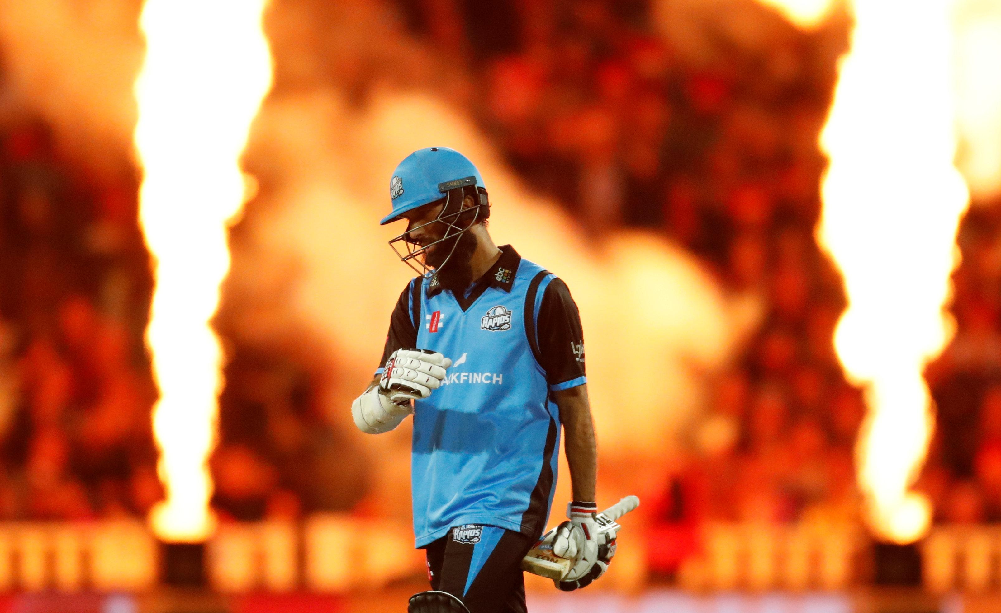 Moeen Ali was out for 41 in the T20 Blast Final