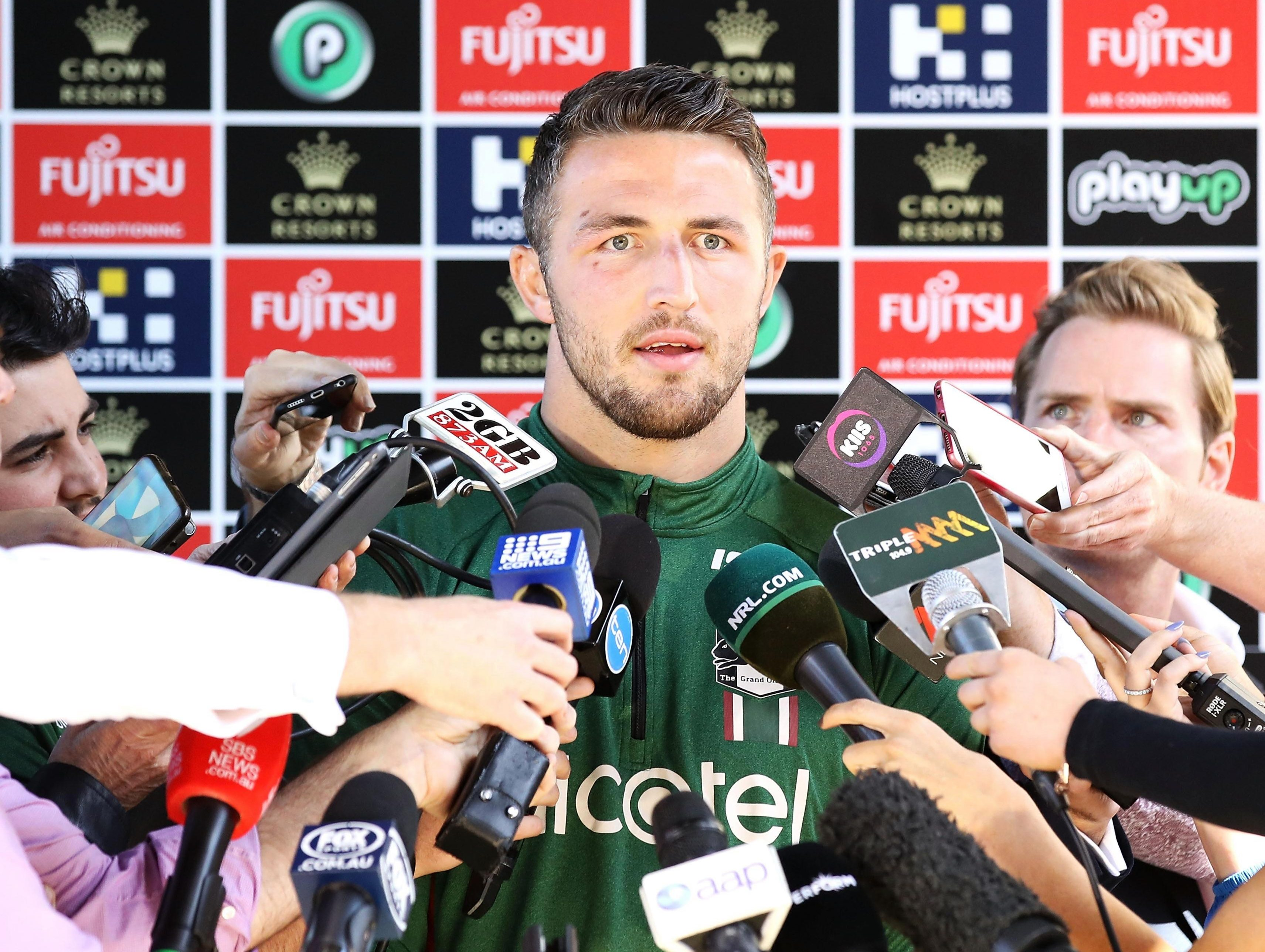 Burgess addressed the Australian media on Tuesday, where he said he had the full support of his wife Phoebe