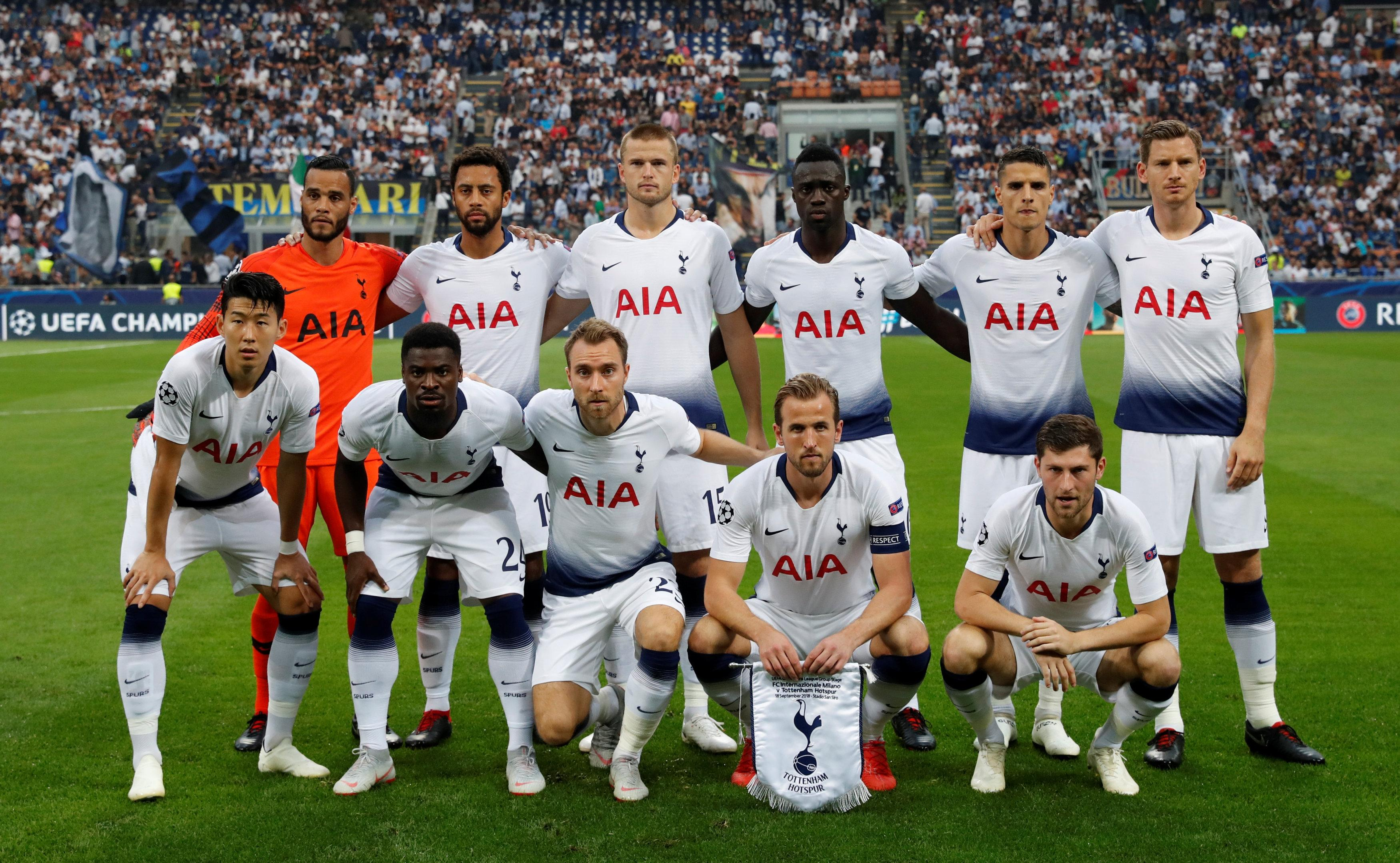 How Tottenham lined-up for their first Champions League game of the season
