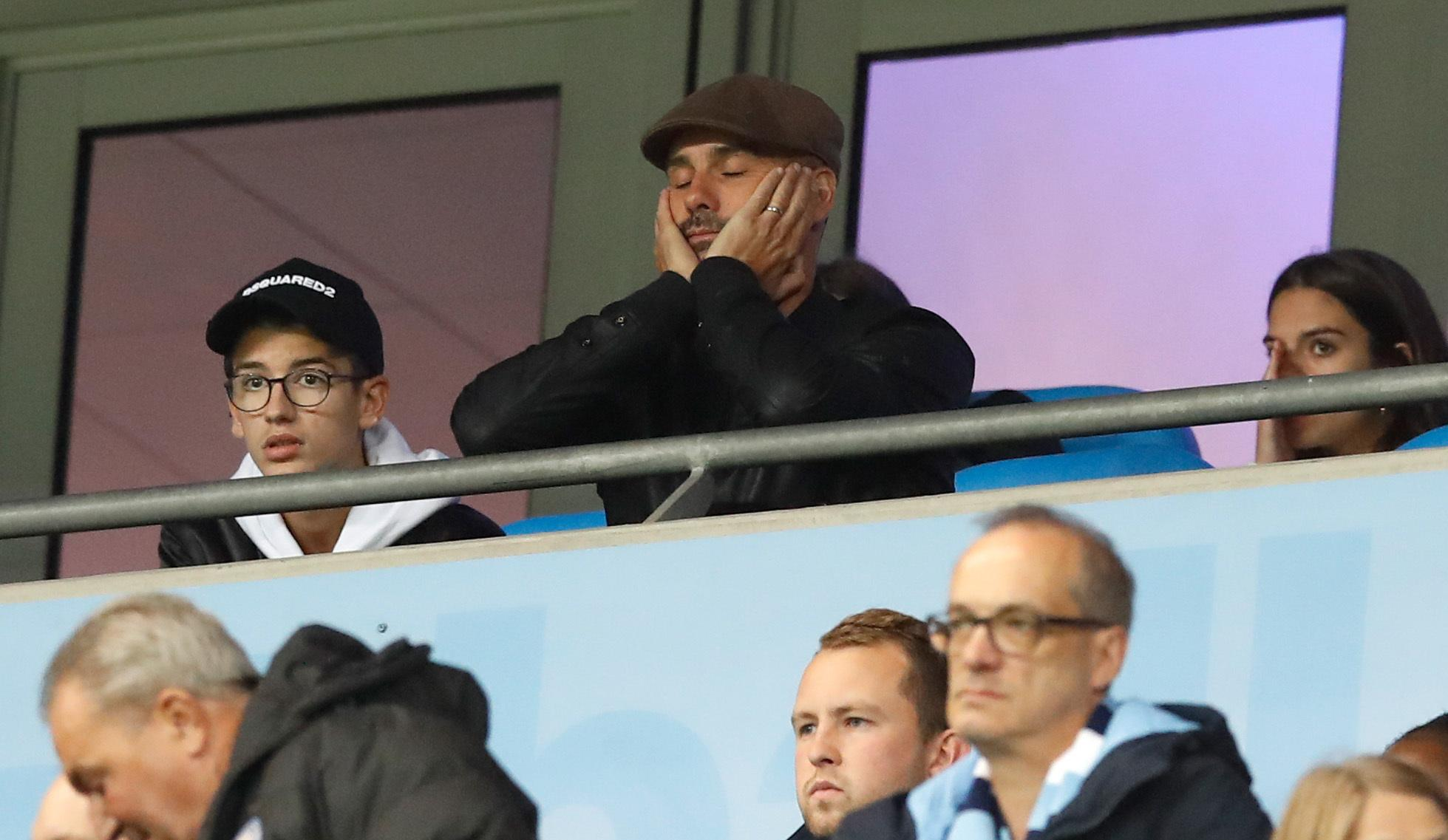 Pep Guardiola couldn't believe it as City became the first English side to lose four consecutive Champions League games