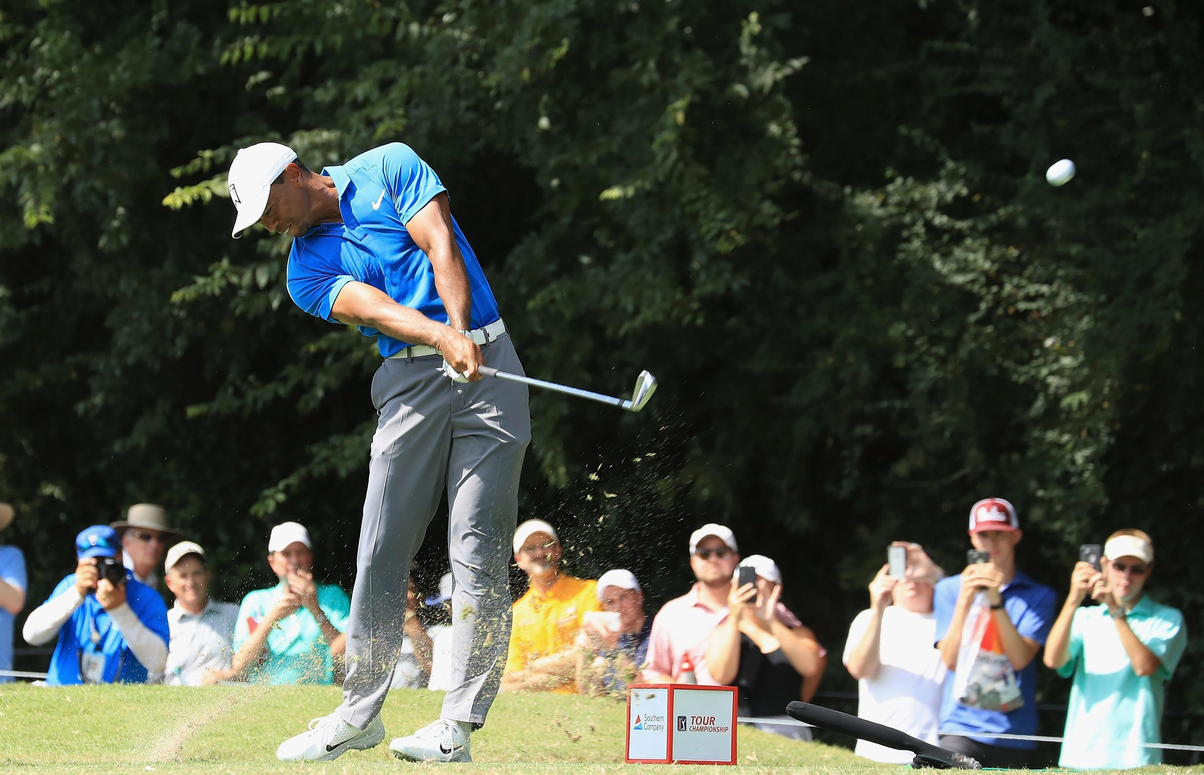 Tiger Woods was in full flow at East Lake on Saturday